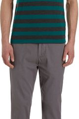 Barneys New York Co-op Bar Stripe V-neck Tee Shirt - Lyst