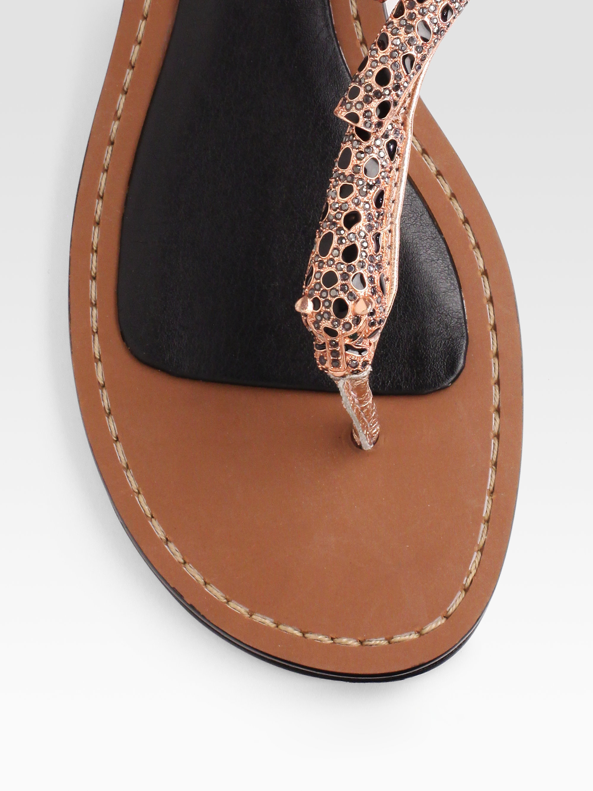 8f19627775dfc Lyst - Boutique 9 Rhinestone Panther Sandals in Brown