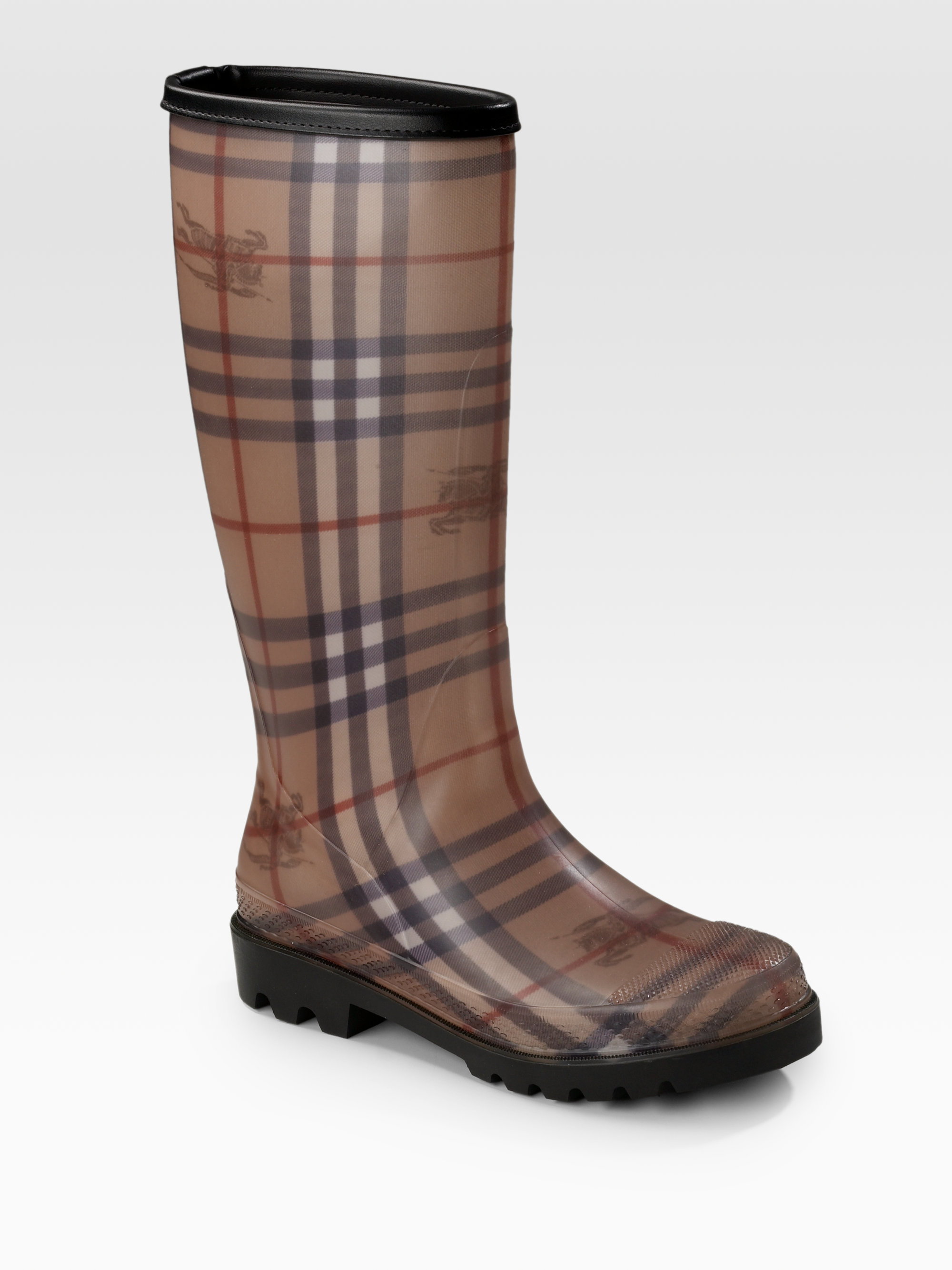 853b903b85905 Burberry Classic Check Rain Boots in Brown - Lyst