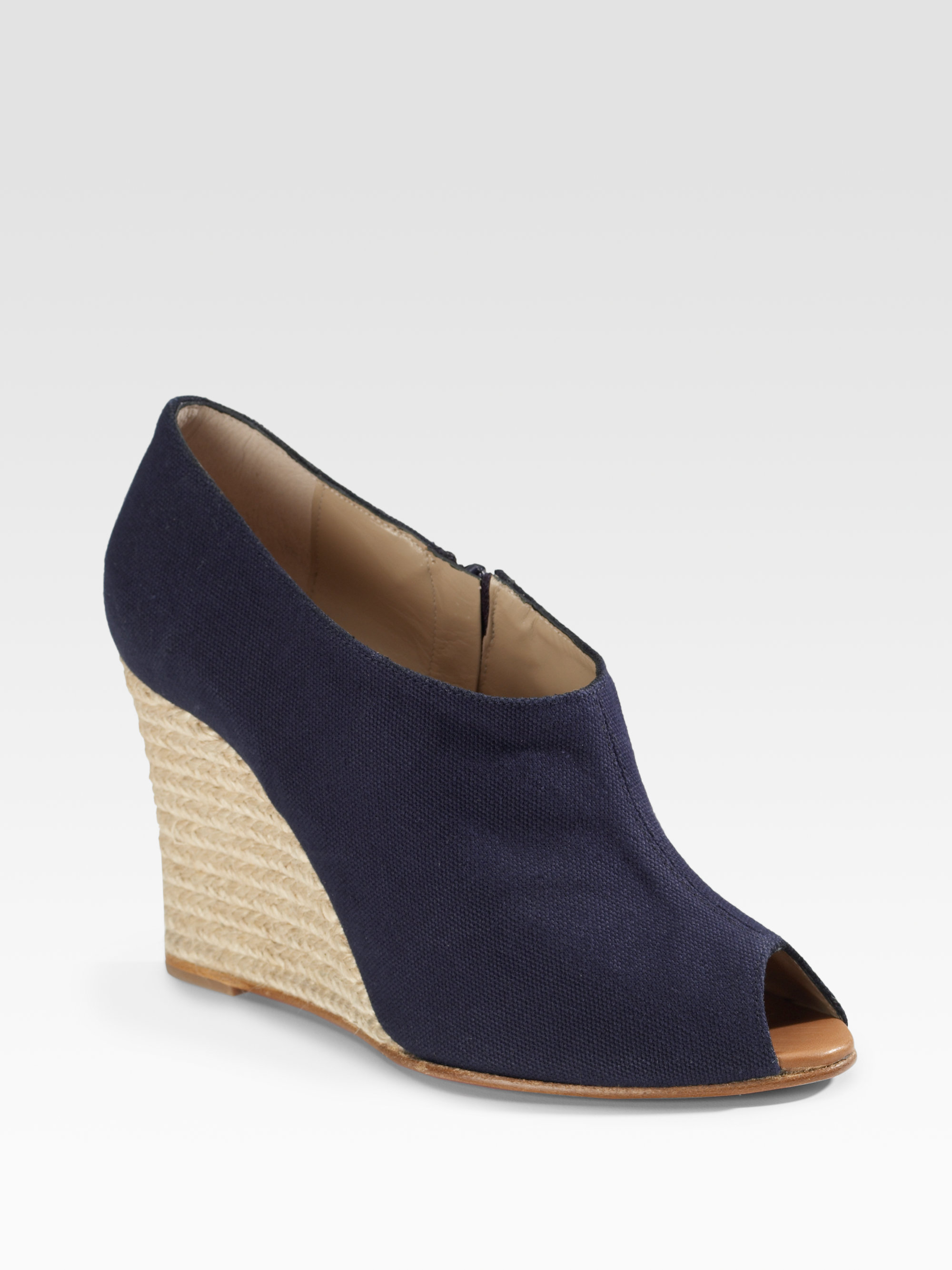 28f1853a3872 Lyst - Christian Louboutin Corazon Covered Wedge Espadrilles in Blue
