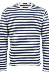 DSquared2 Striped Tshirt - Lyst