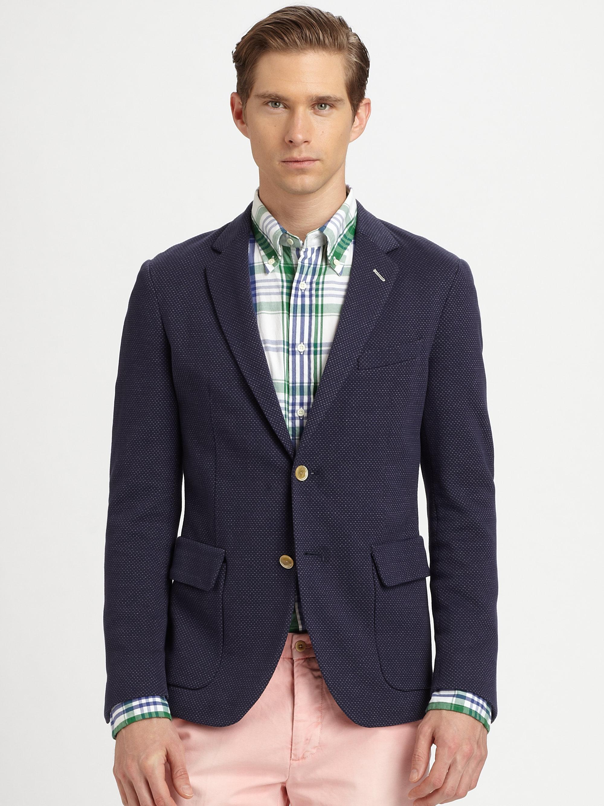 Connu Gant rugger Twobutton Birdseye Blazer in Blue for Men   Lyst GV27