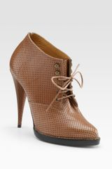 Givenchy Perforated Laceup Ankle Boots - Lyst