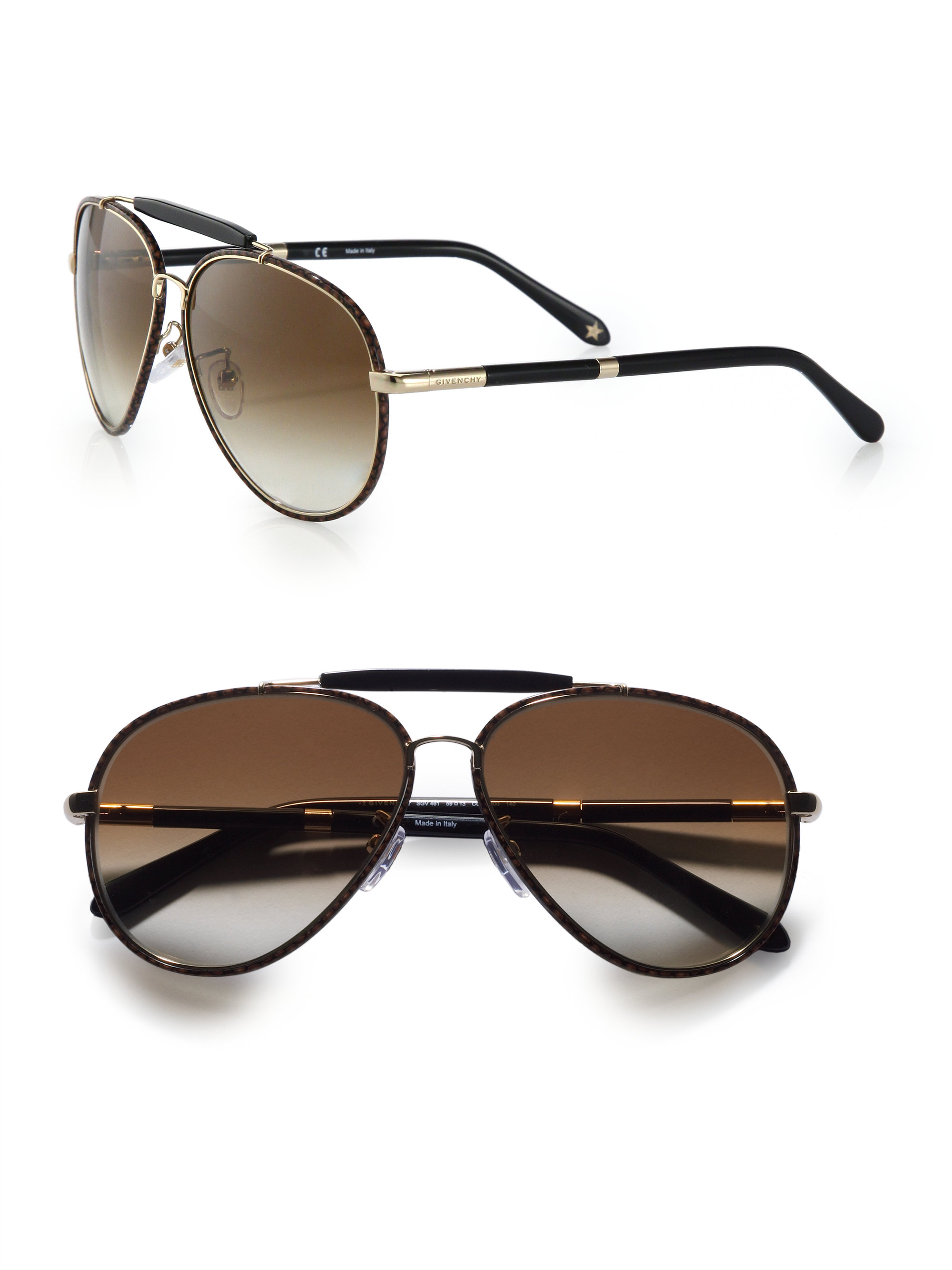 3222c060761 Lyst - Givenchy Metal Aviator Sunglasses in Brown for Men