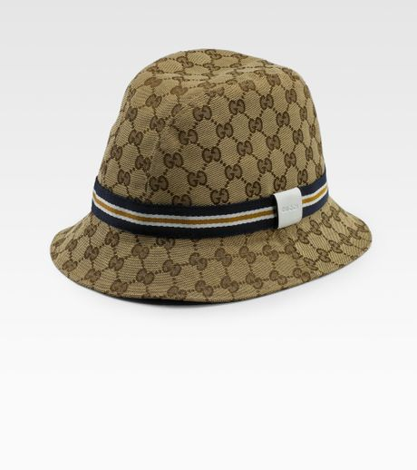 gucci canvas bucket hat in beige for men bei eb coc lyst. Black Bedroom Furniture Sets. Home Design Ideas