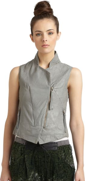 Improvd Leather Moto Vest - Lyst