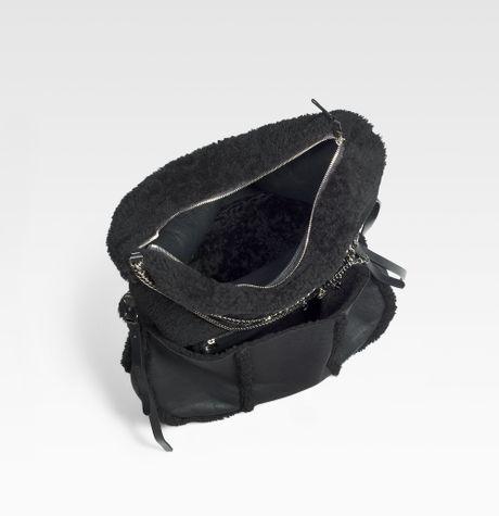 Jimmy Choo Biker Large Shearling Shoulder Bag 81