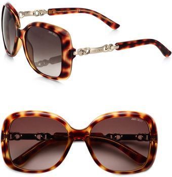 Jimmy Choo Wileys Oversized Square Sunglasses - Lyst