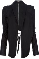 Lost and Found Knot Detail Asymmetric Jacket - Lyst