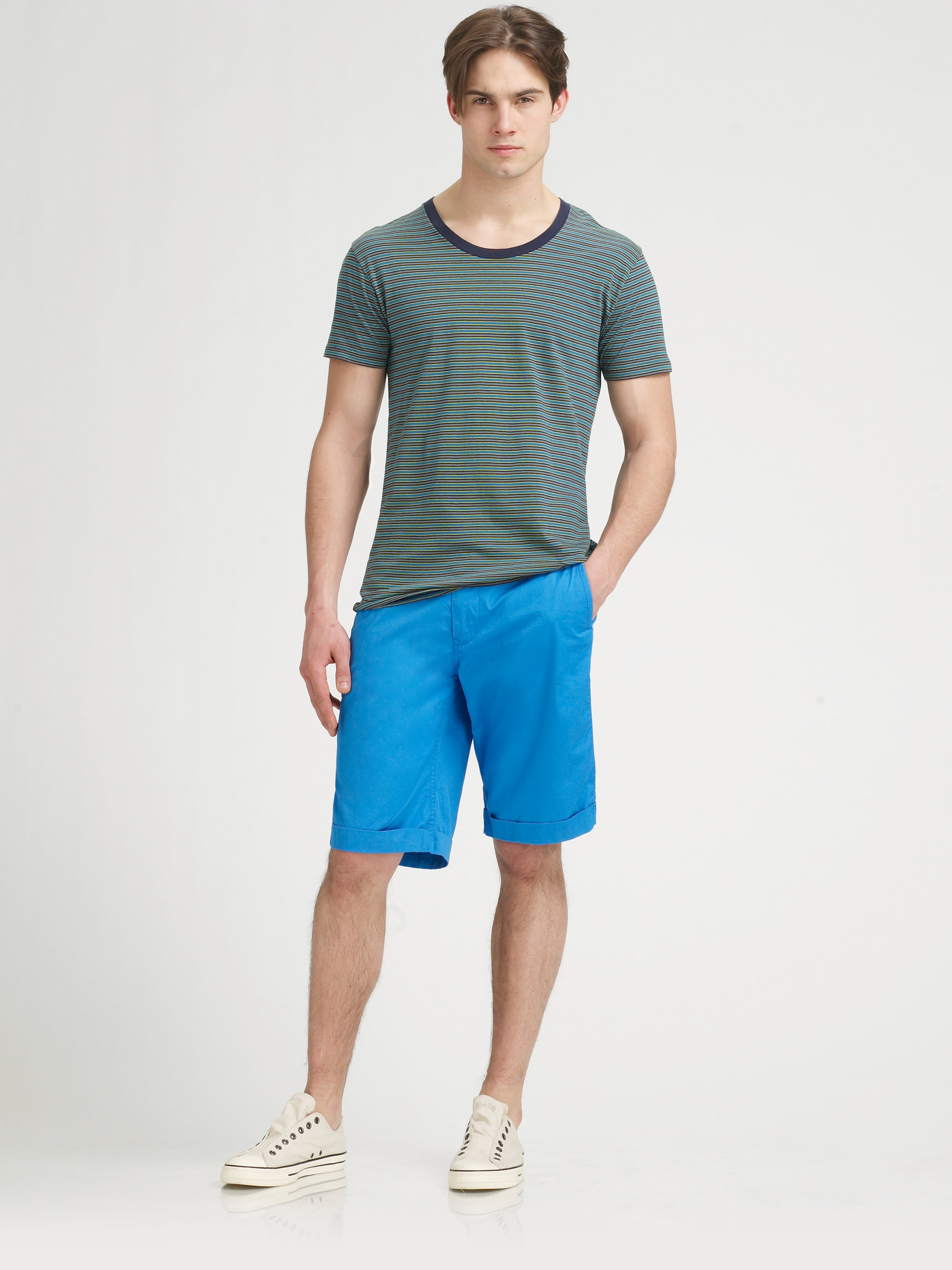 Marc by marc jacobs Harrington Shorts in Blue for Men | Lyst
