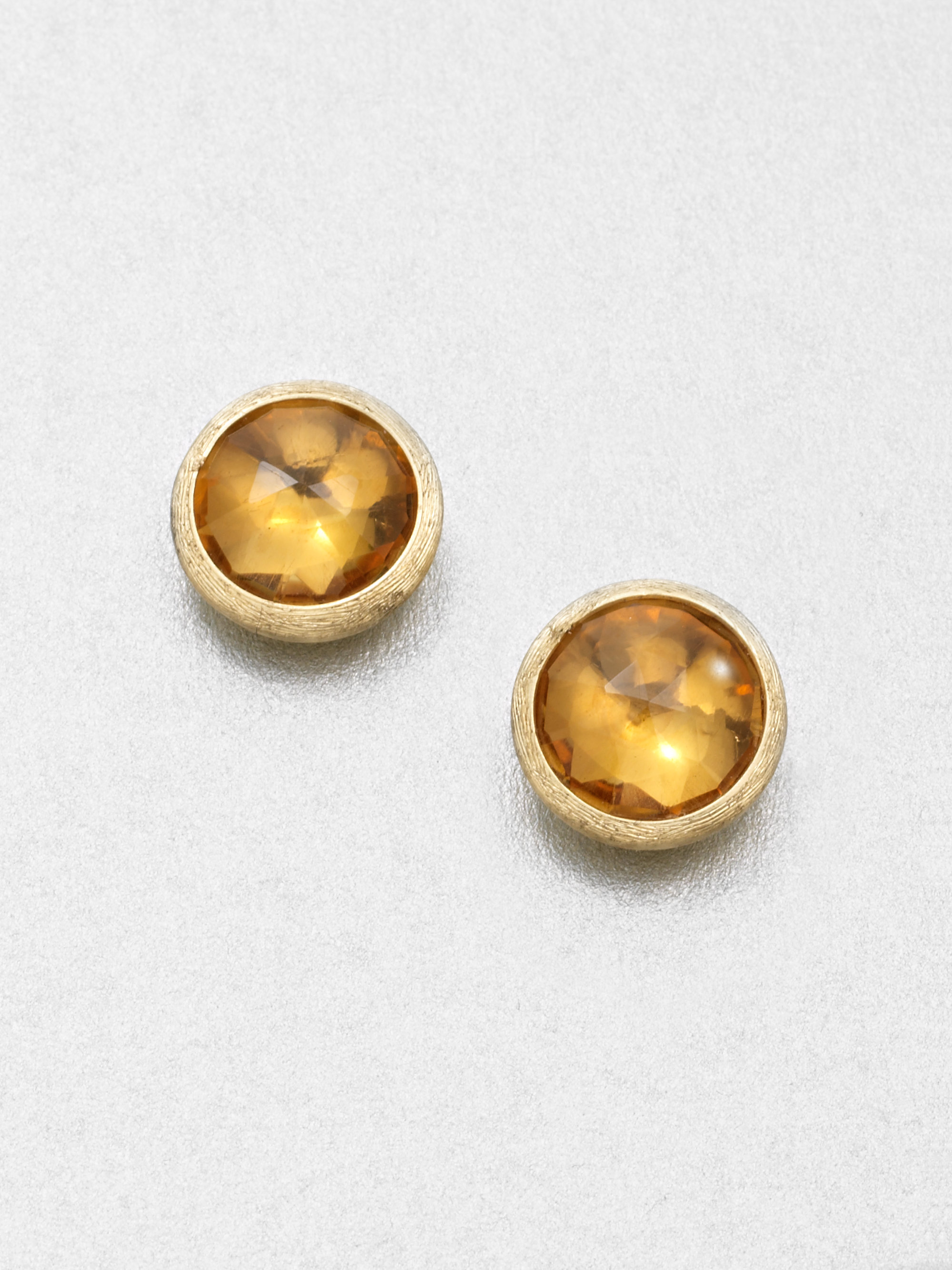 lyst gallery bicego jewelry citrine jaipur in stud product light marco earrings orange