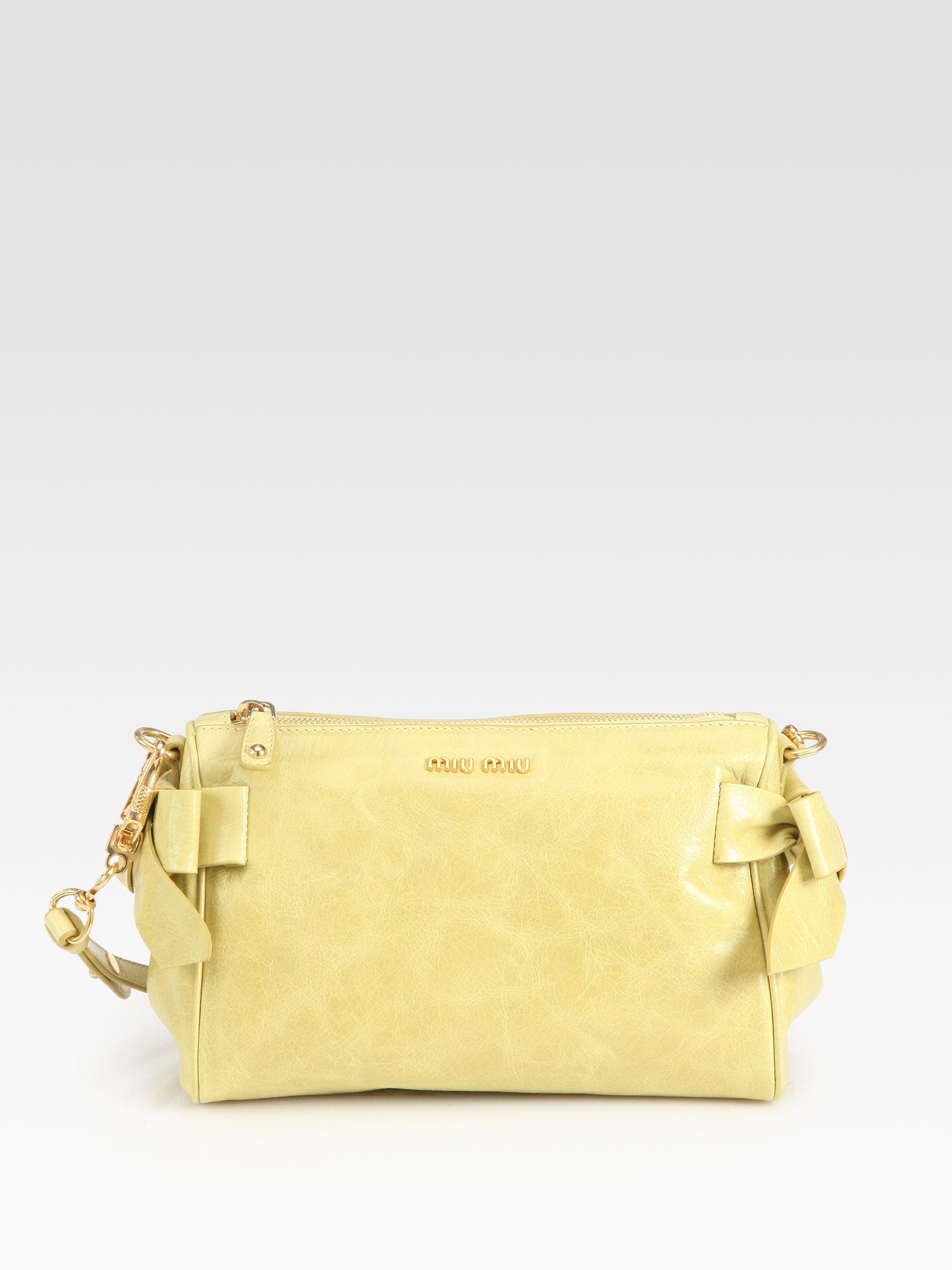 Miu Miu Vitello Small Bow Shoulder Bag 80