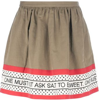 Moschino Cheap & Chic Print Skirt - Lyst