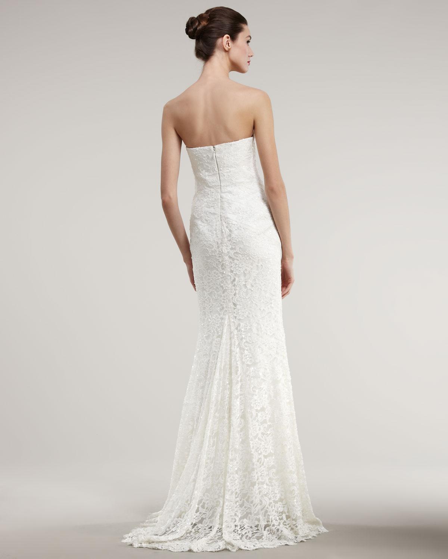 Fine Nicole Miller Dakota Bridal Gown Festooning - Best Evening Gown ...