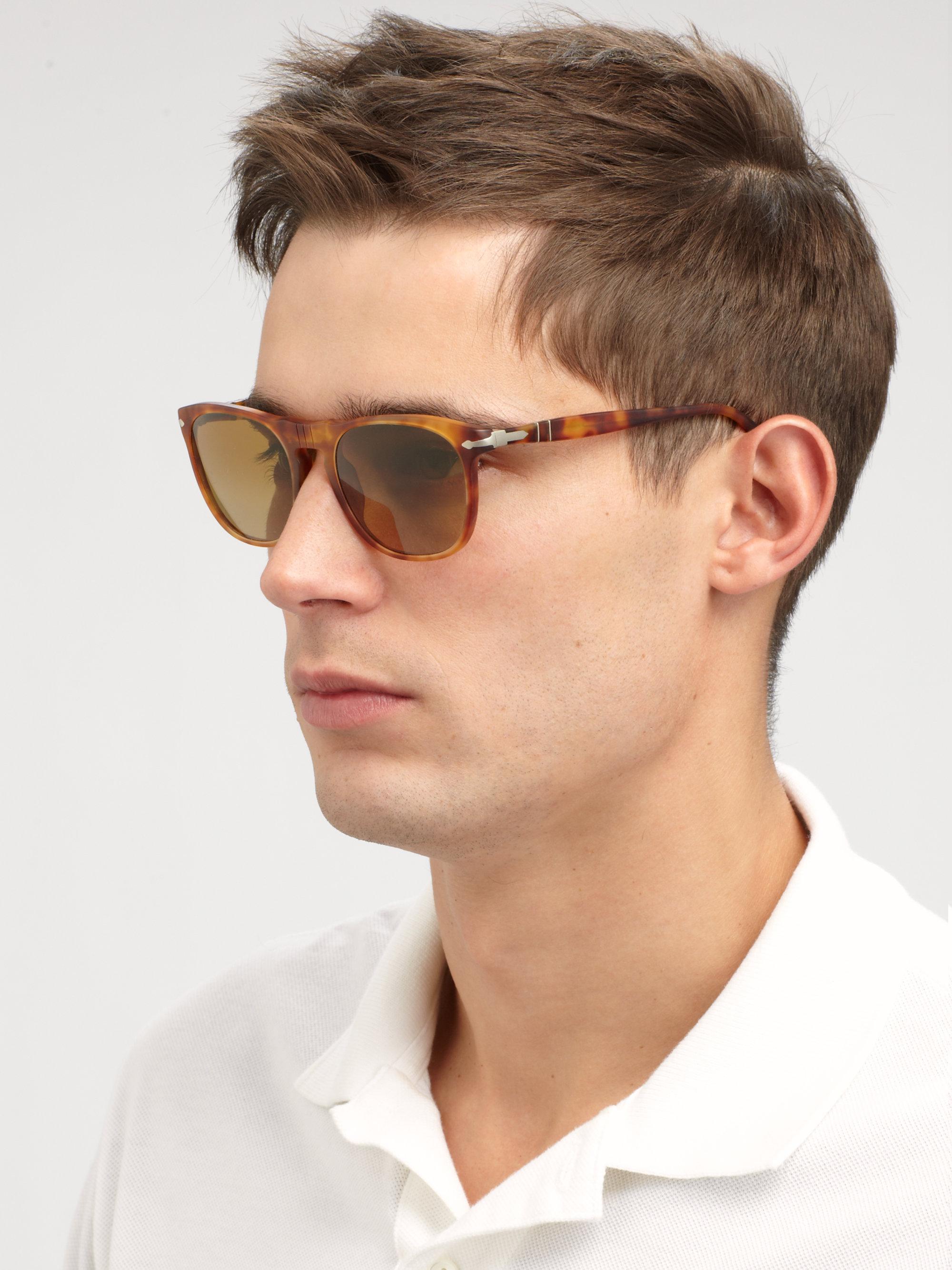 dcd408bdd2223 Lyst Sunglasses Vintage Flattop In Persol Keyhole Brown rUfwrp