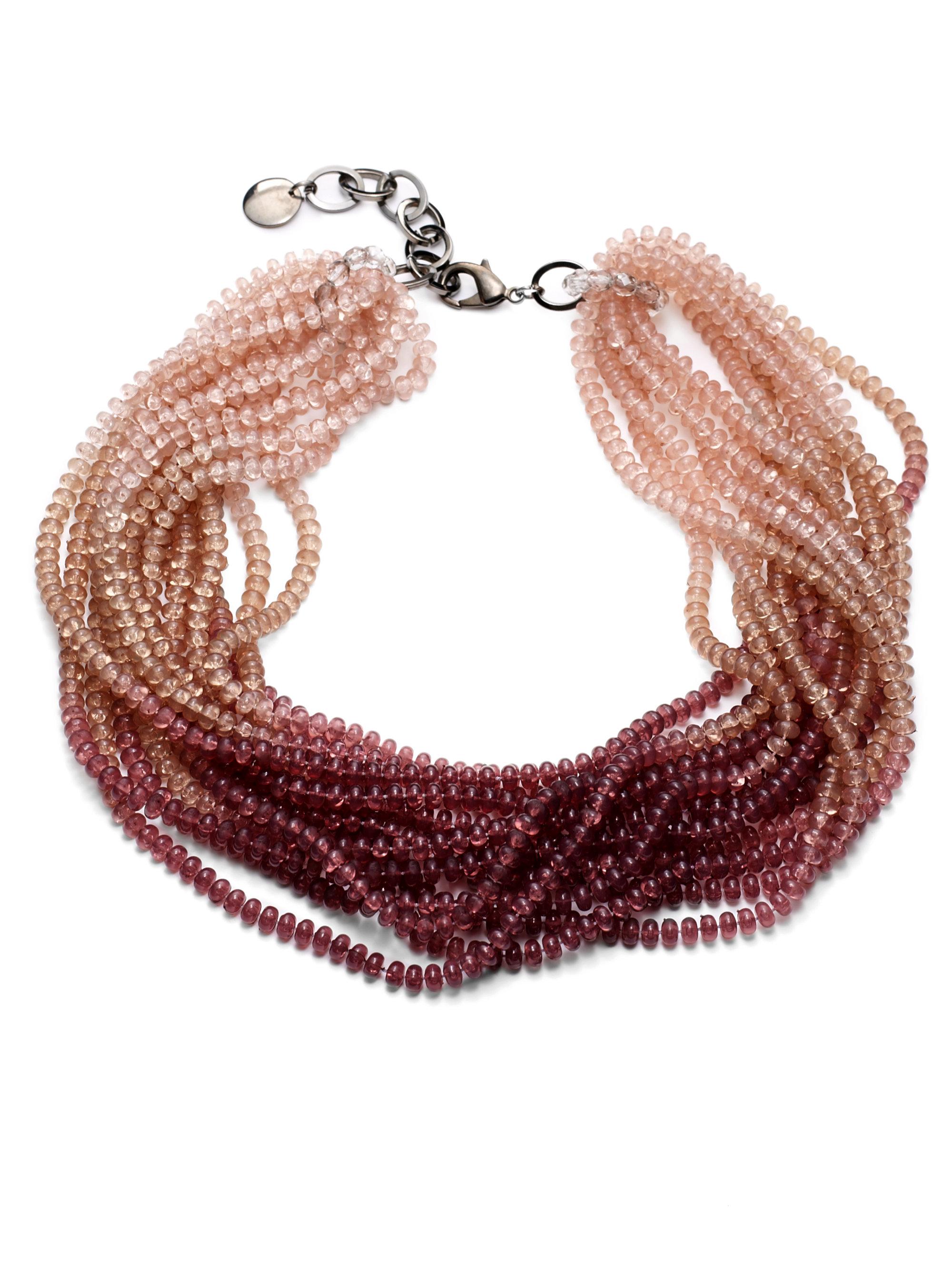 pono caviar necklace in purple brass lyst