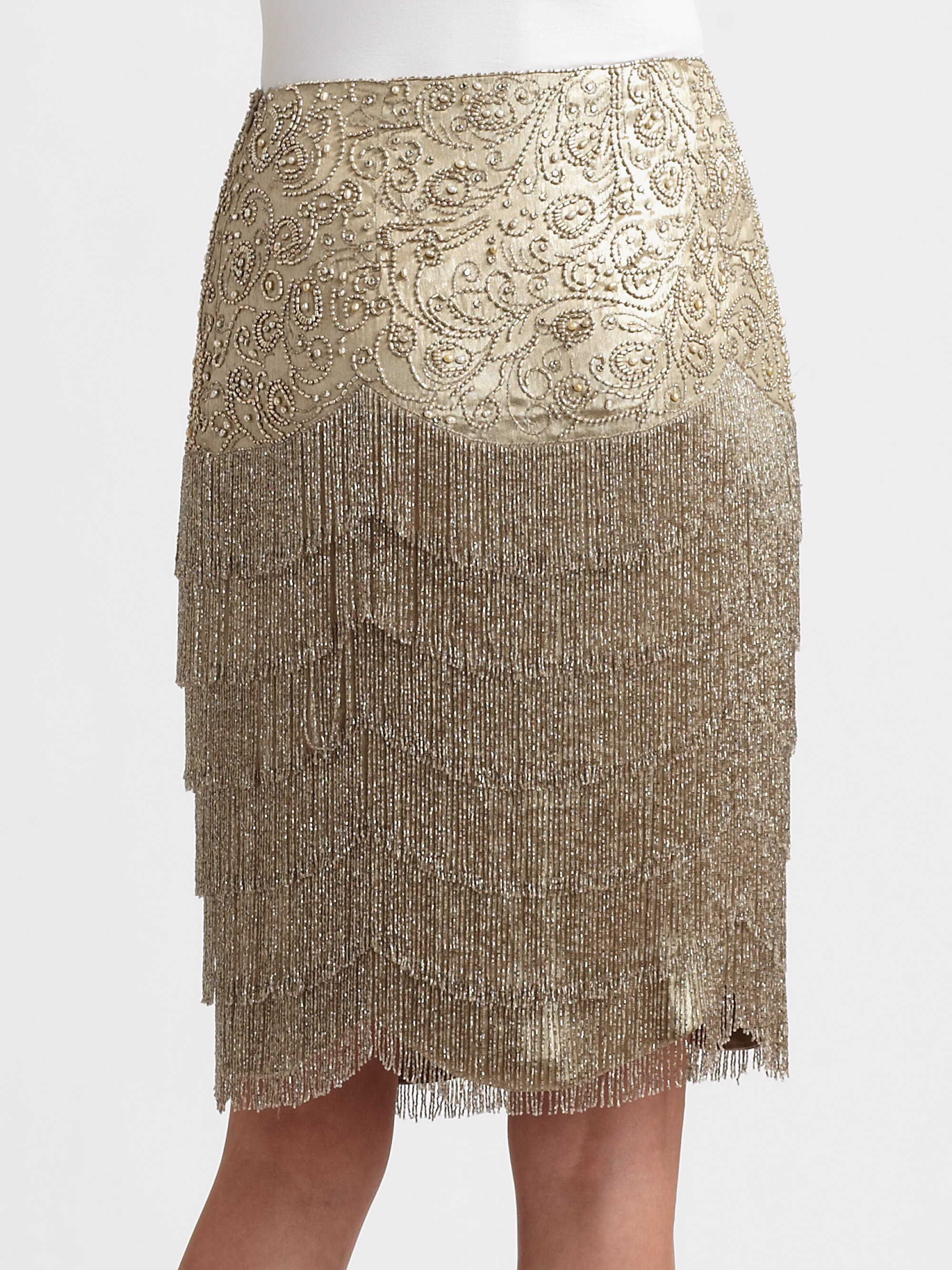 Lyst Ralph Lauren Collection Beaded Theresa Skirt In
