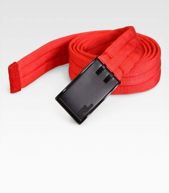 Ralph Lauren Padded Web Belt - Lyst