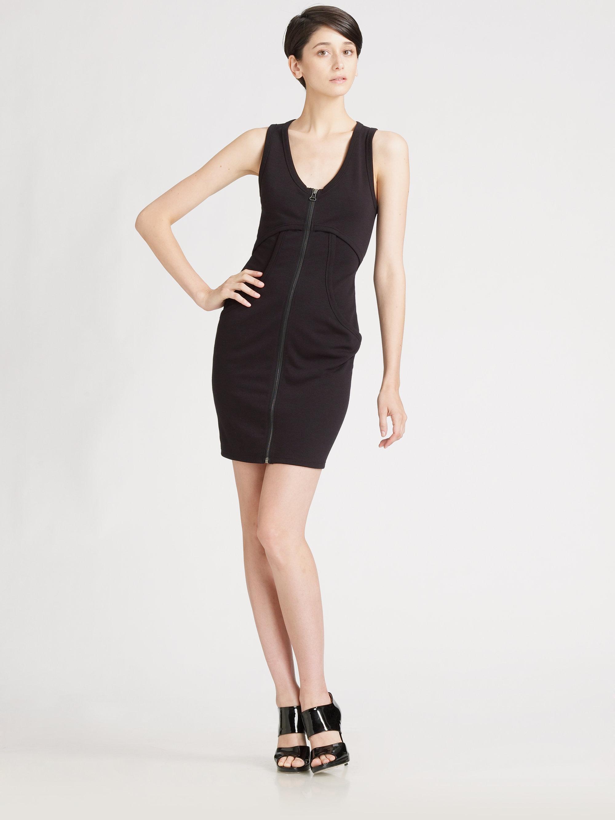 e5f80ca4dd50 Lyst T By Alexander Ponte Zip Dress In Black