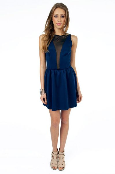 4fb76fb0e9 Tobi Kalani Cocktail Dress in Blue (navy)