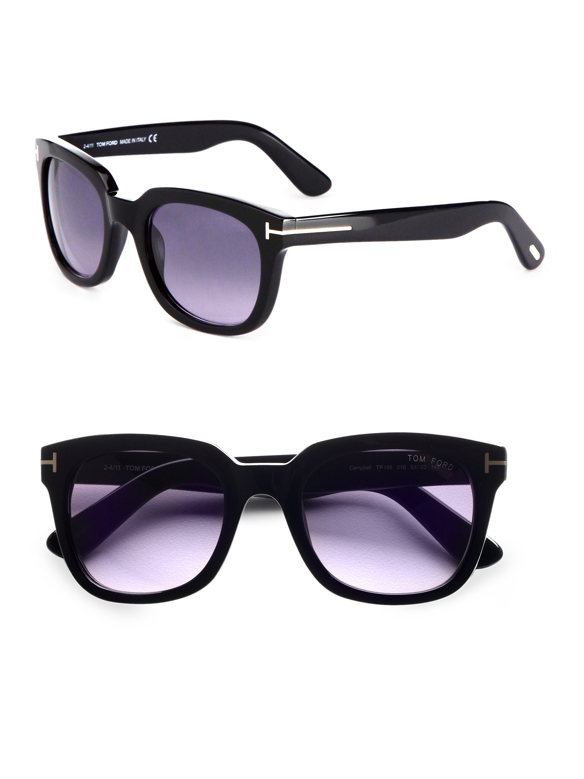 f08ac2305c6 Lyst - Tom Ford Campbell Square Sunglasses in Black