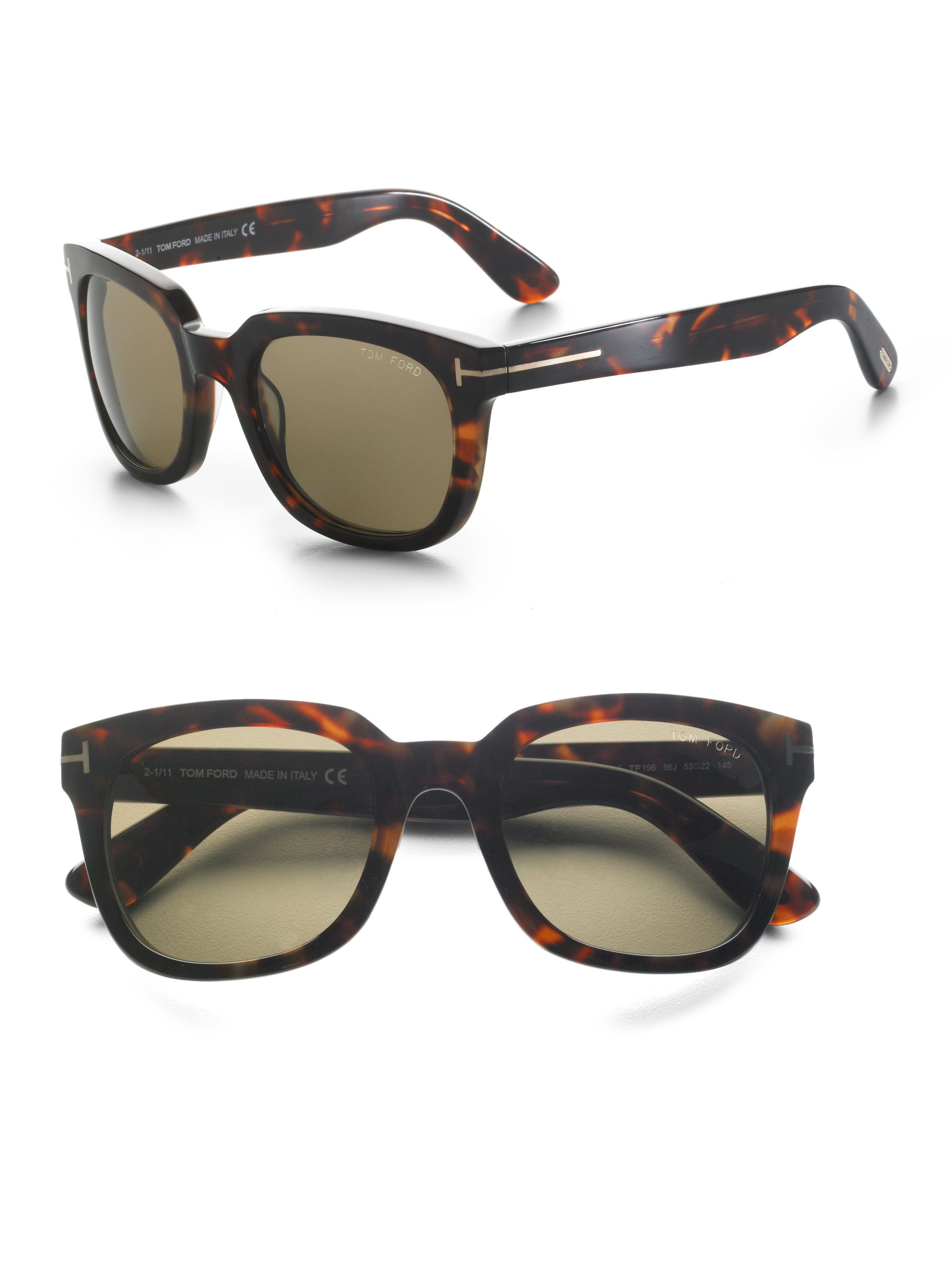 Tom ford Campbell Sunglasses in Brown | Lyst