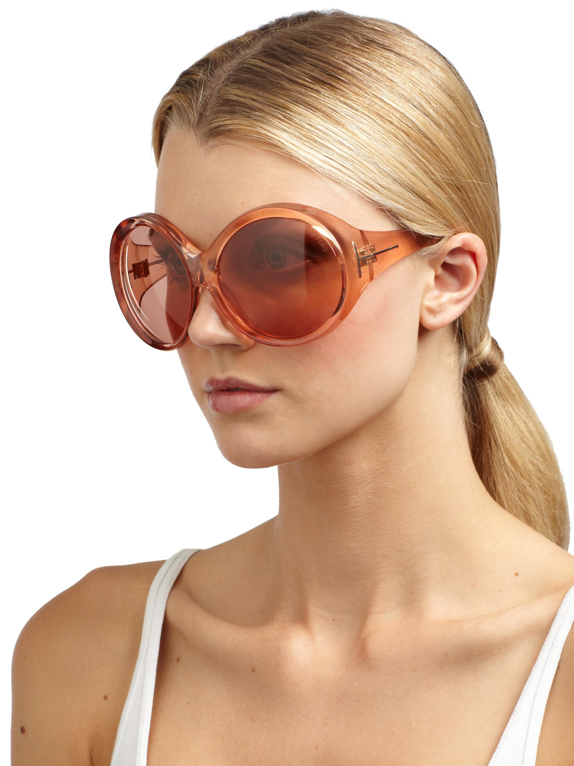 cdeff79f8f Tom Ford Ali Sunglasses in Pink - Lyst