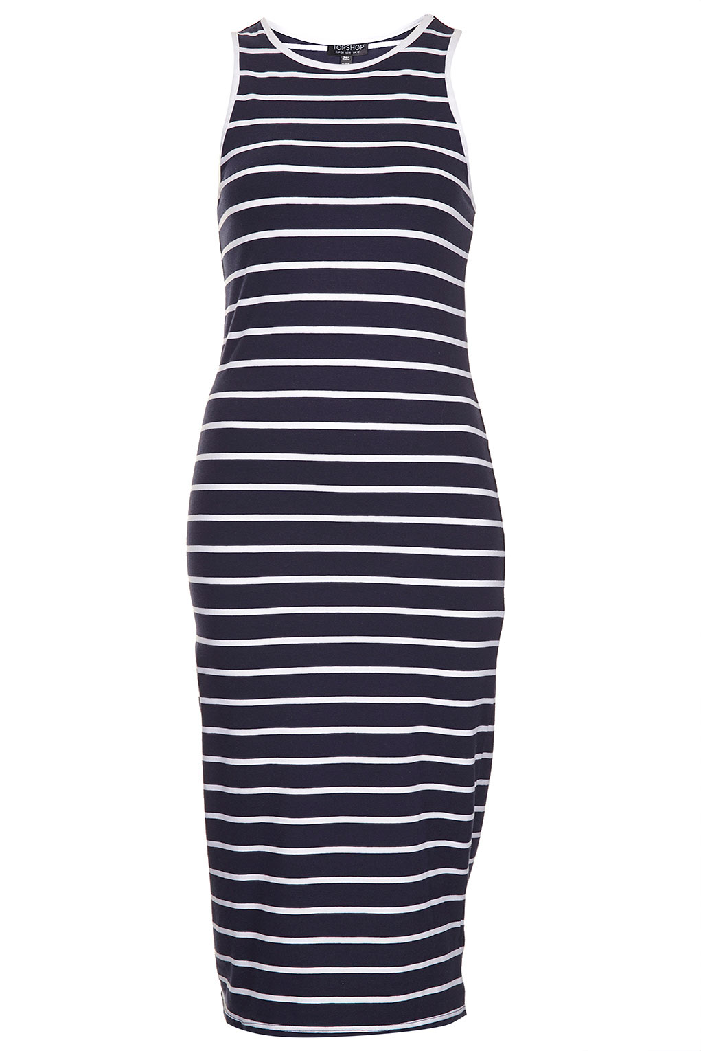 Lyst topshop stripe tank racer back maxi dress in blue - Housse coussin maison du monde ...
