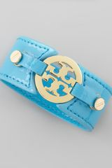 Tory Burch Logo Double Snap Cuff - Lyst