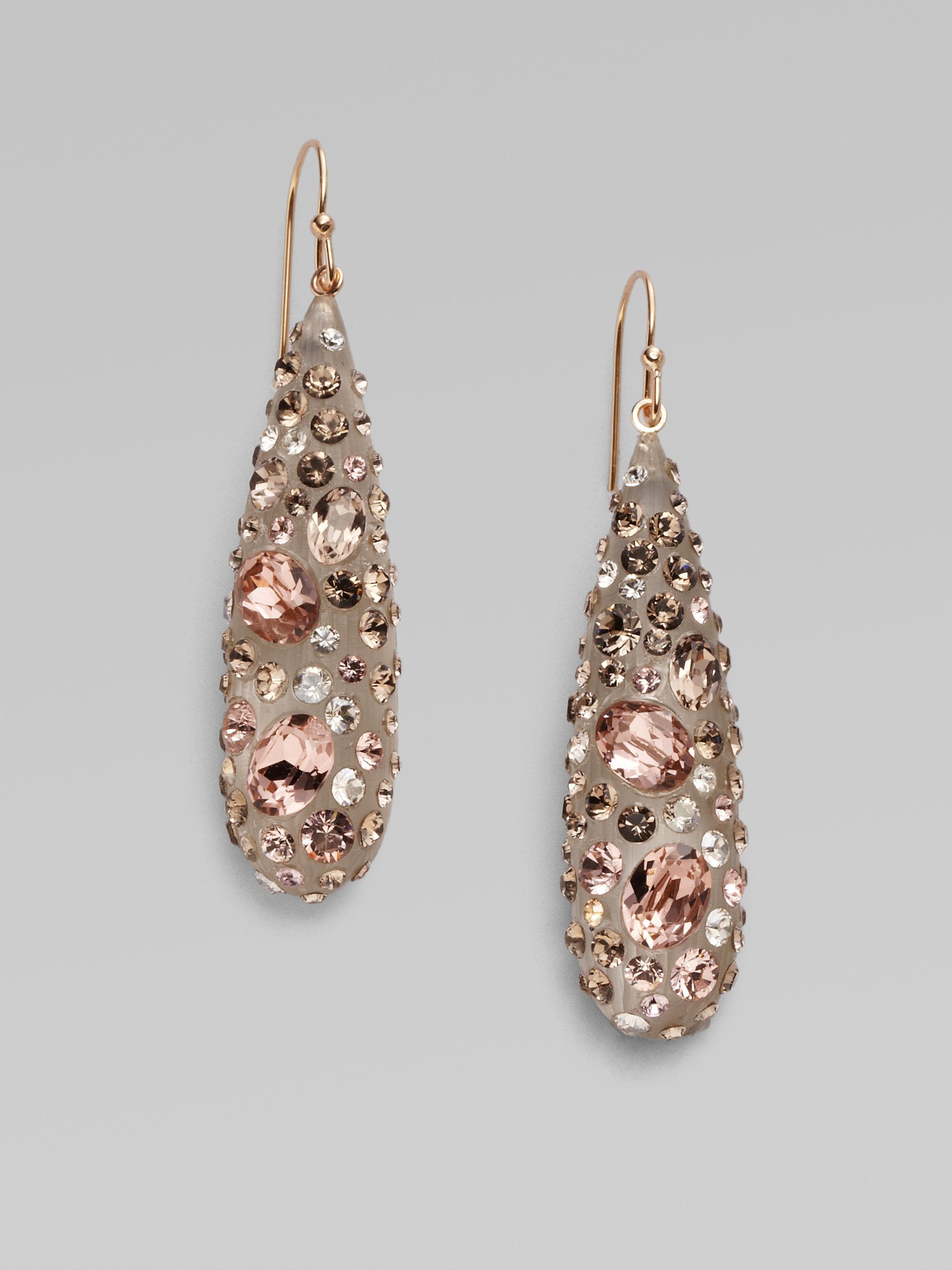 Alexis Bittar Crystal Teardrop Earrings k5D98