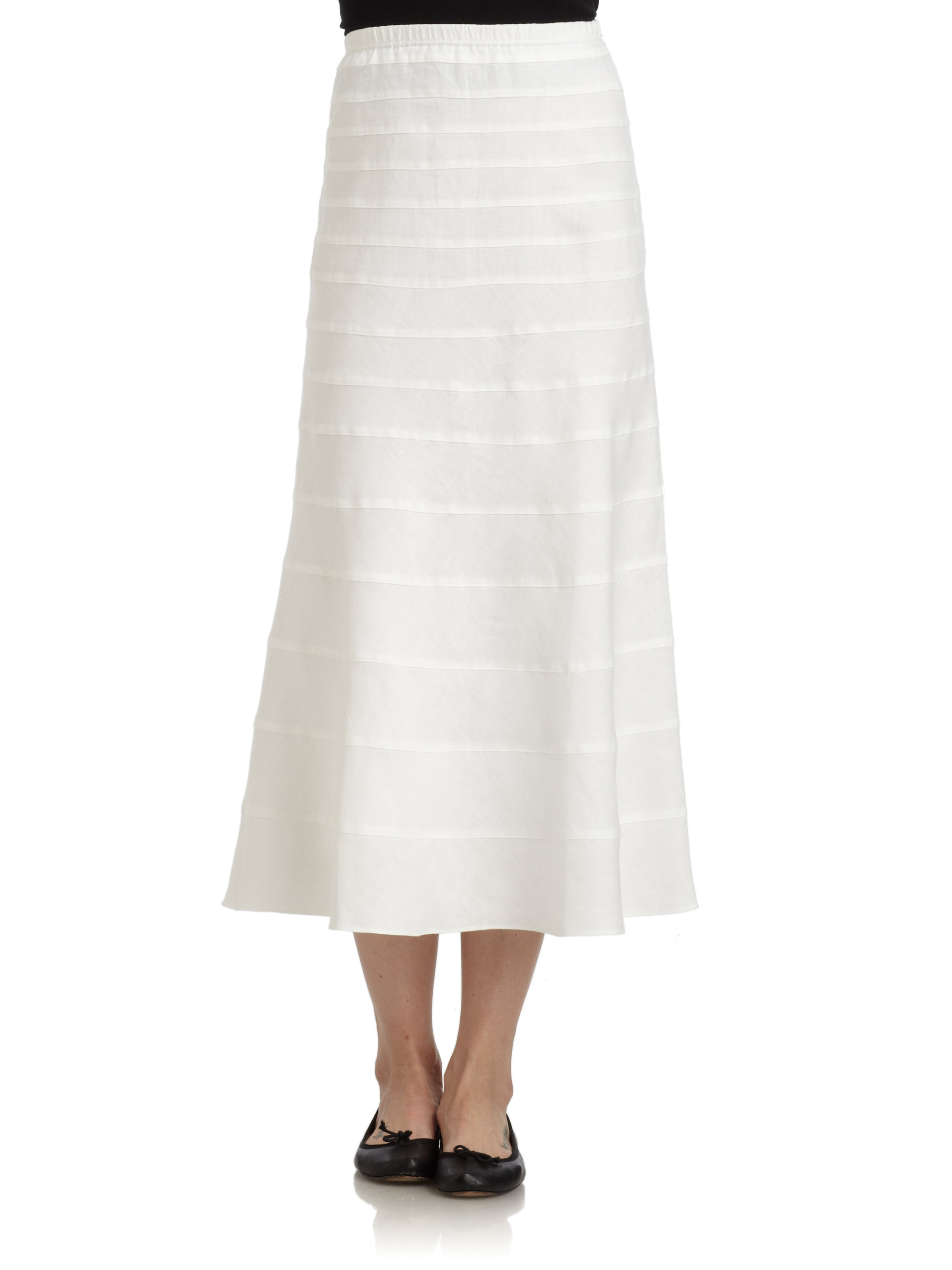 blue saks fifth avenue tiered skirt in white lyst
