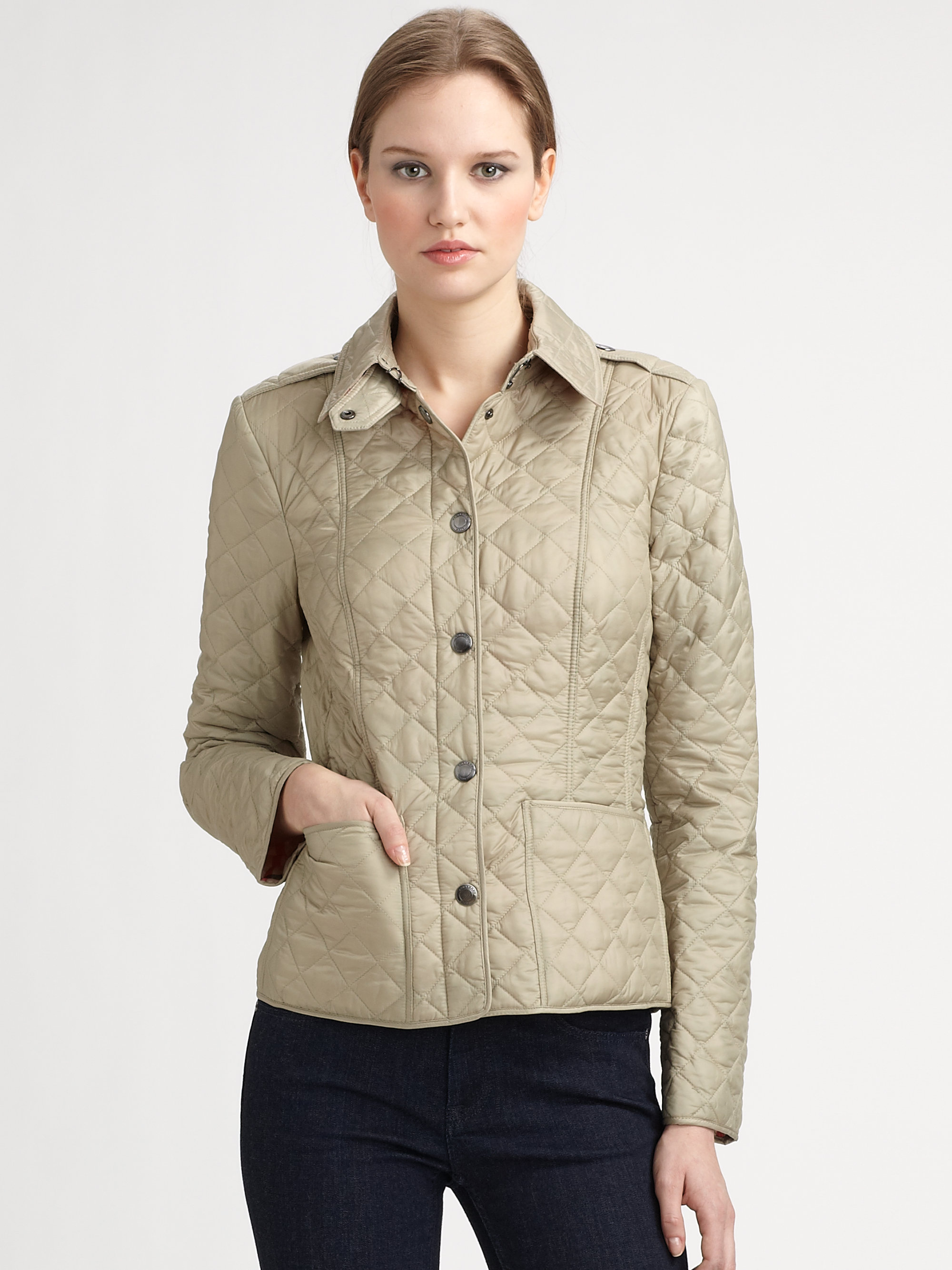 Burberry Brit Kencott Quilted Jacket In Green Lyst