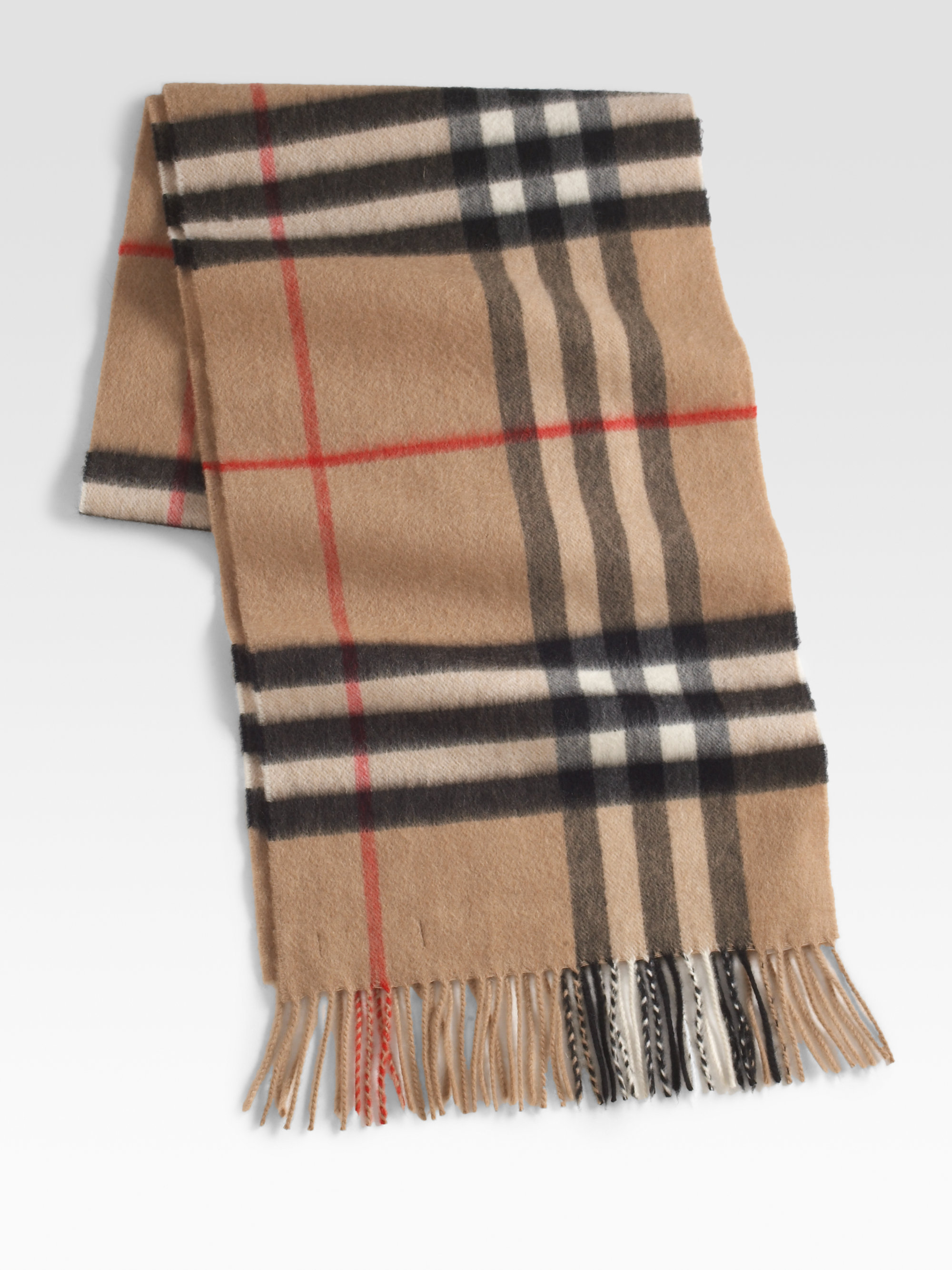 burberry check scarf in blue for lightgrey