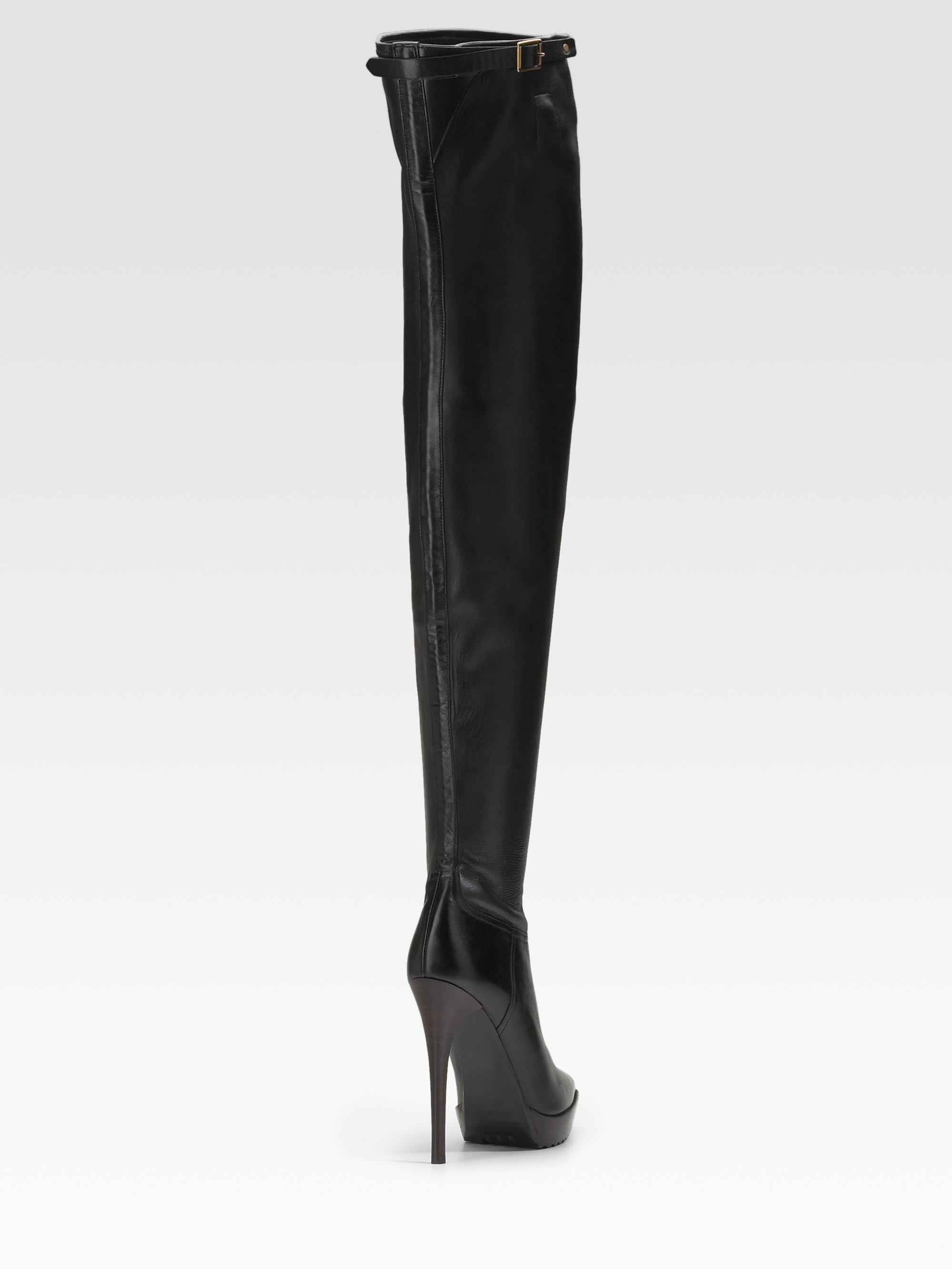 Burberry prorsum Pointy Toe Thigh-high Boots in Black | Lyst