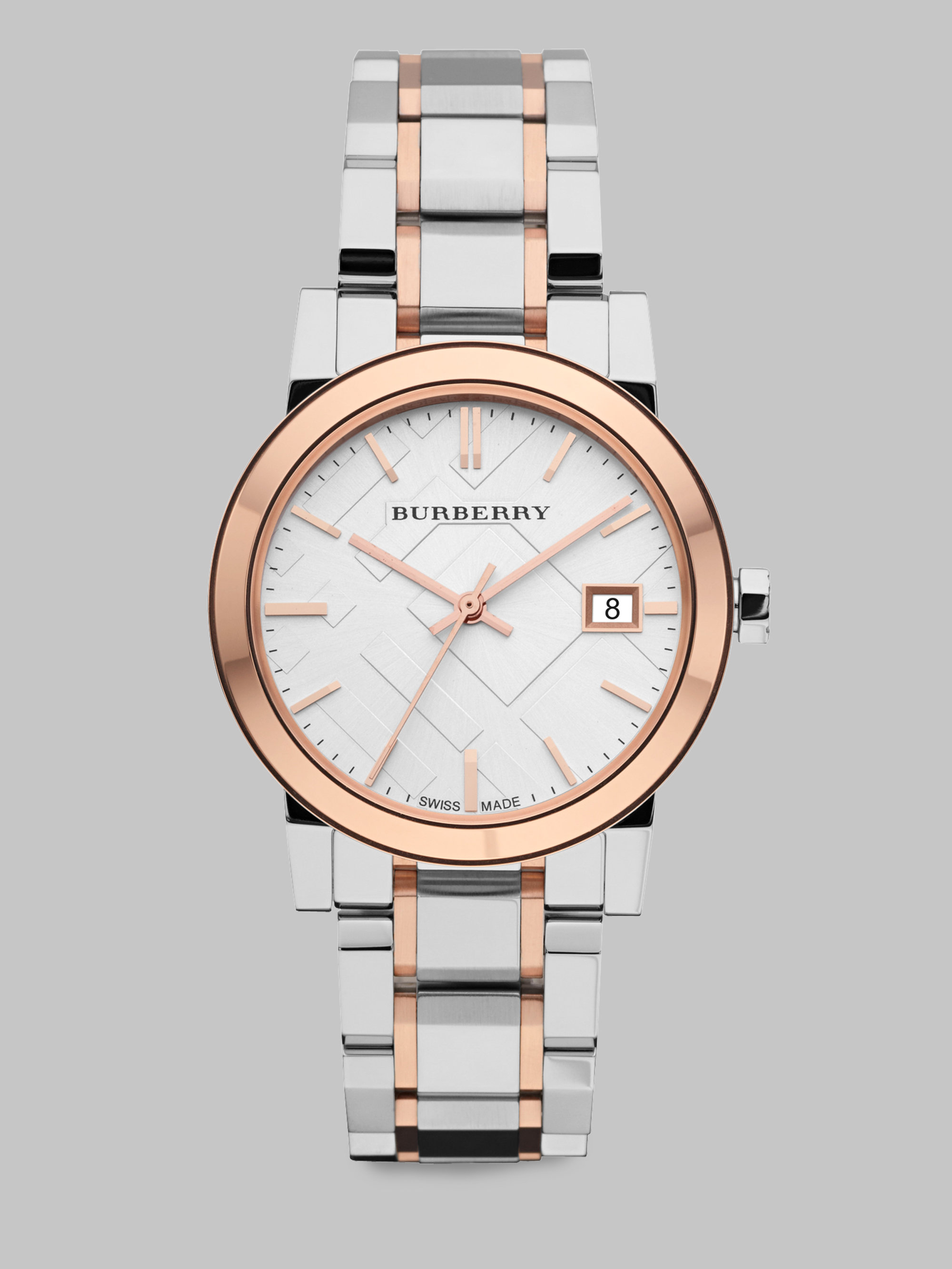 burberry outlet watches 74ko  burberry two tone mens watch