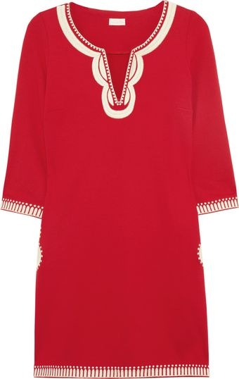 Collette By Collette Dinnigan Embroidered Jersey Mini Dress - Lyst