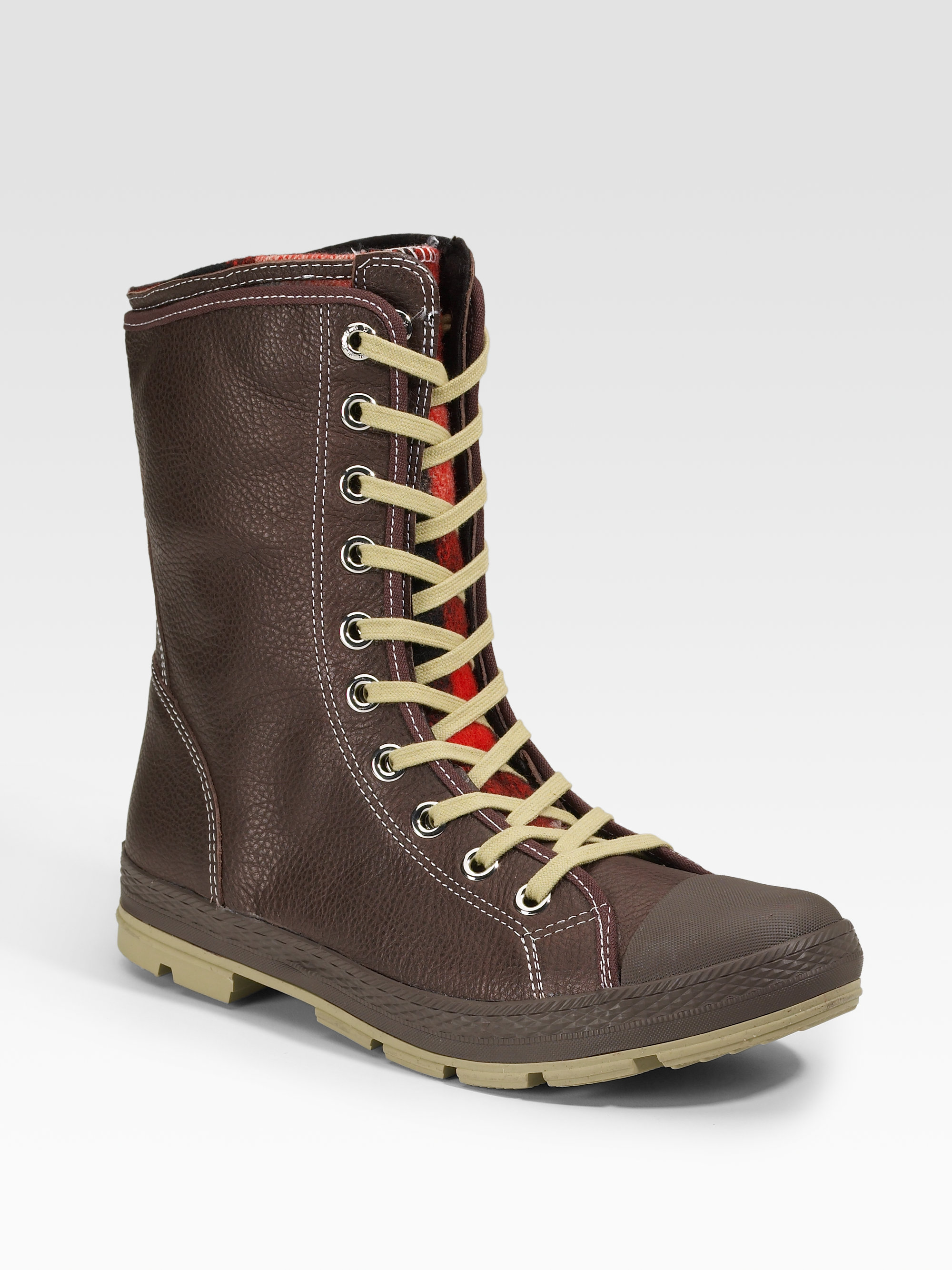 e8b123eaced3dd Lyst - Converse Chuck Taylor Woolrich Outsider Boots extra-high in ...