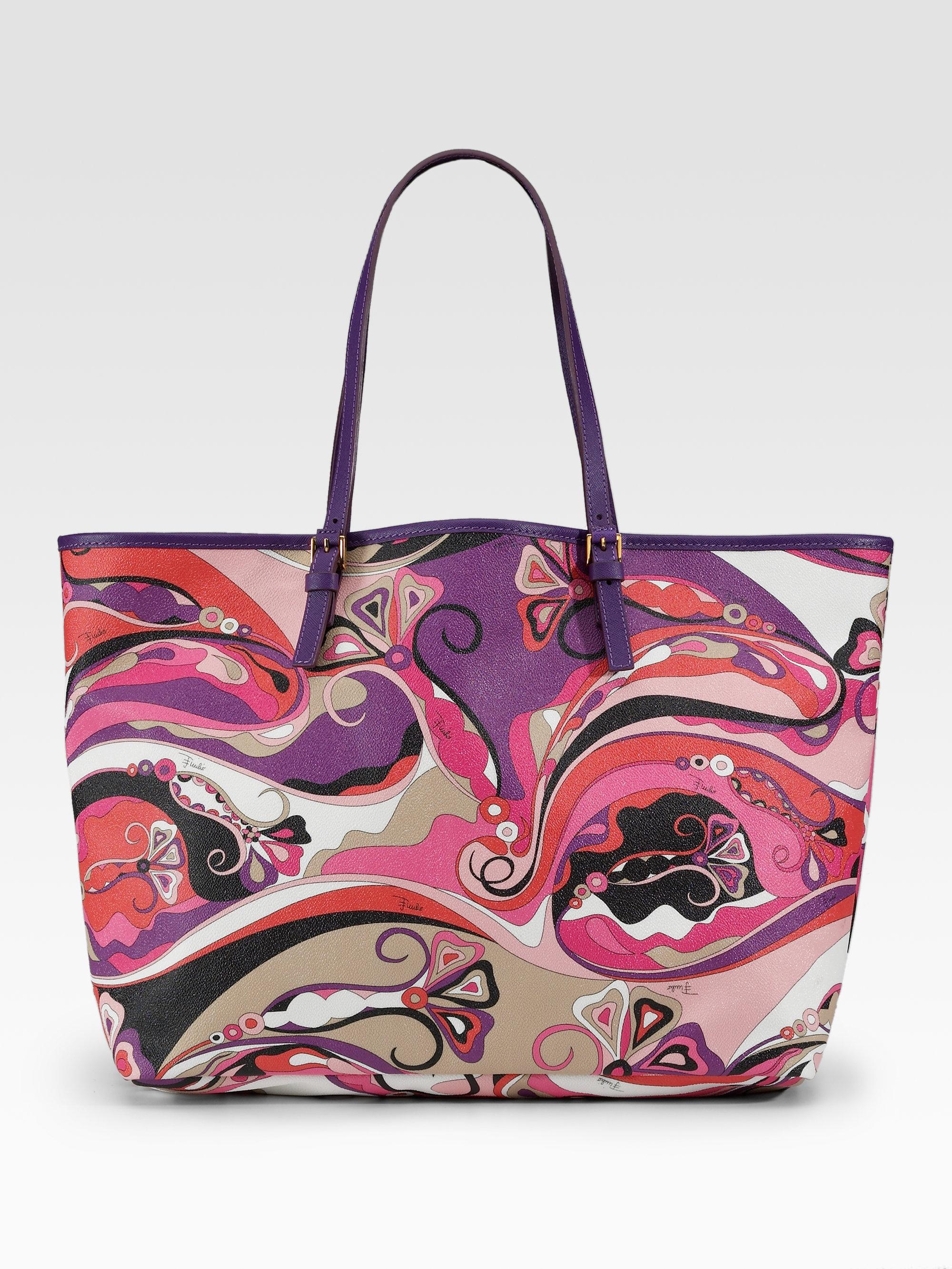 Corallo Printed Tote Bag Emilio Pucci poIWqRY
