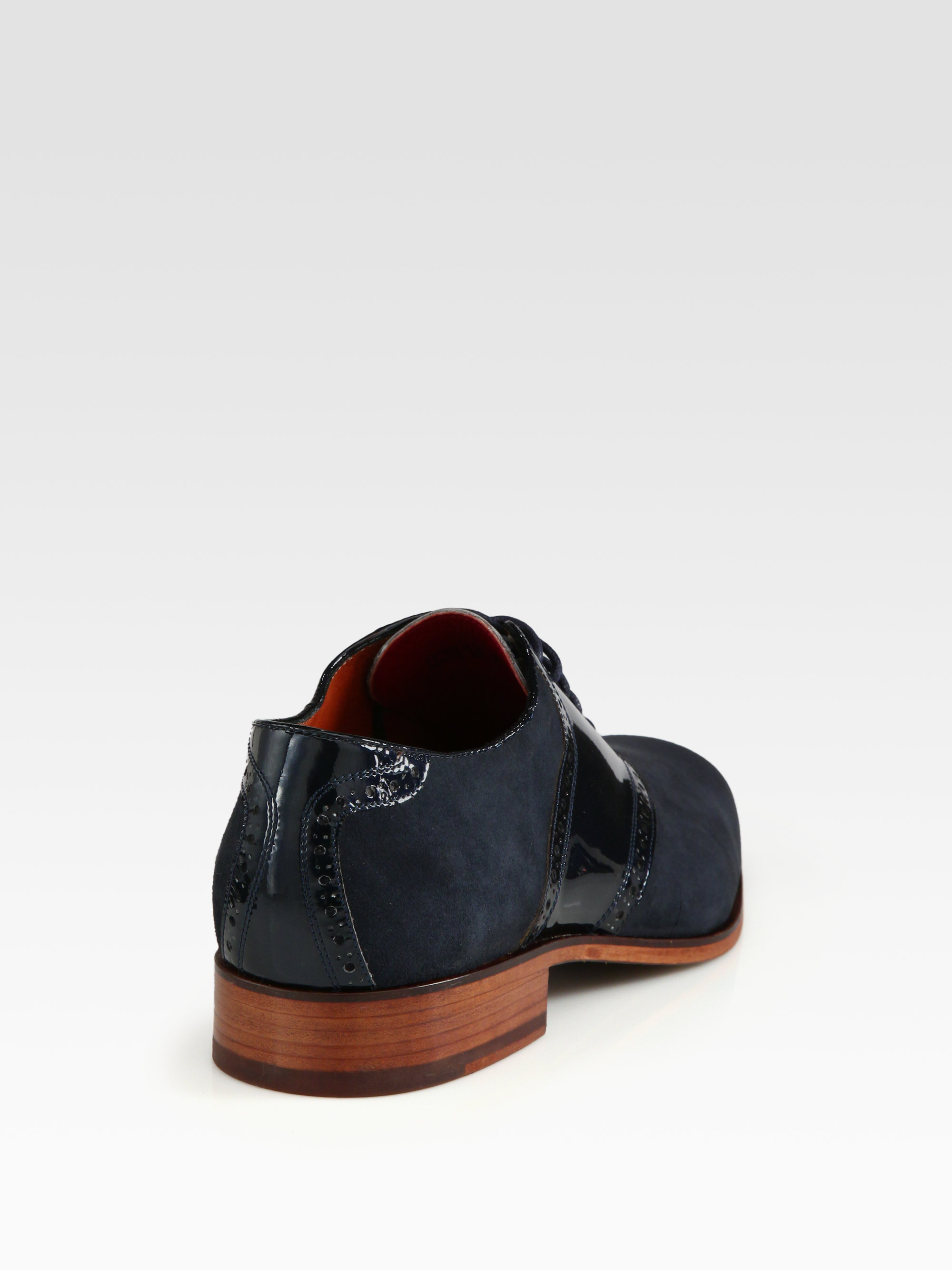 florsheim by duckie brown suede saddle shoe in gray for