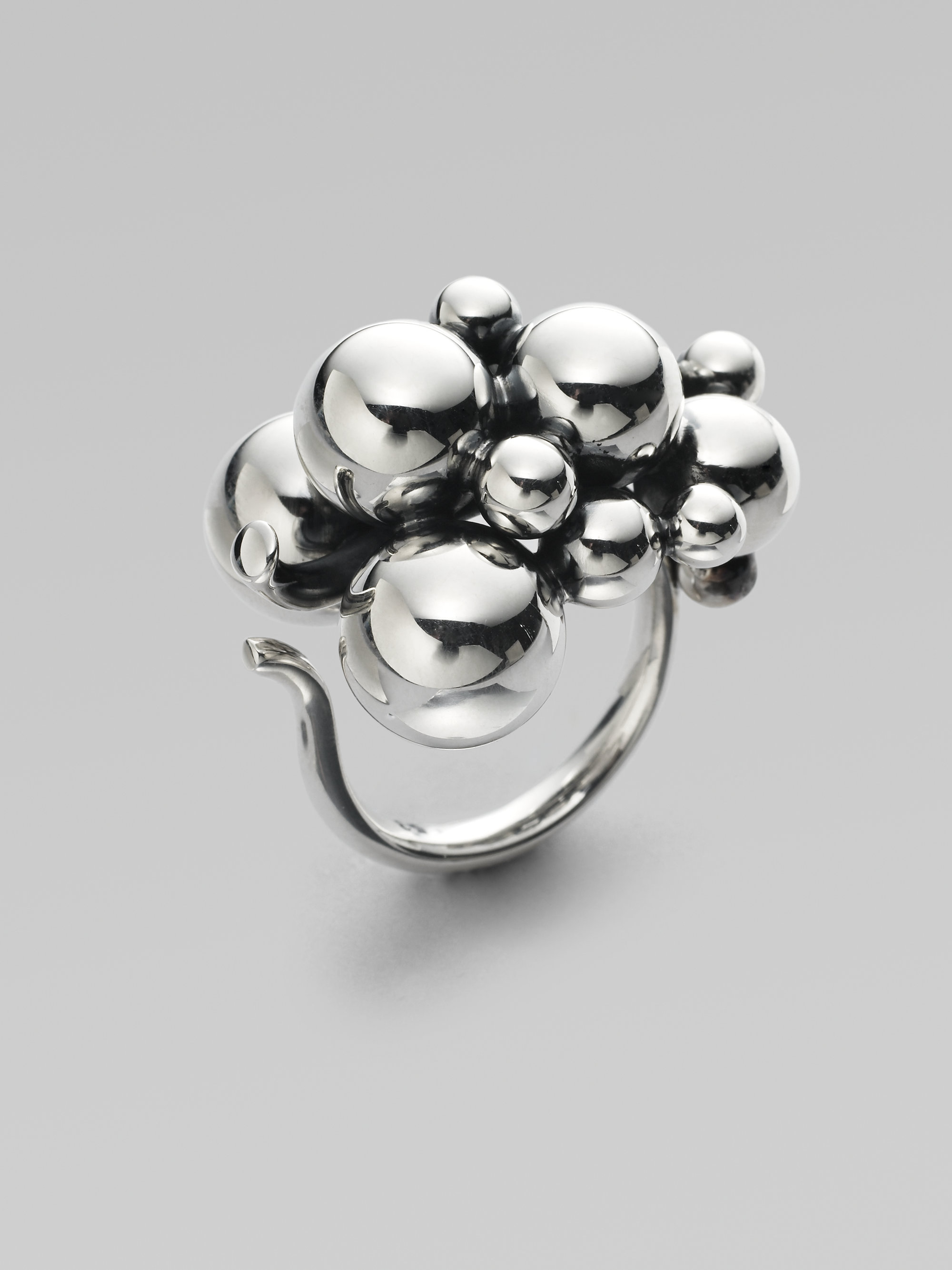lyst georg jensen grape sterling silver ring in metallic. Black Bedroom Furniture Sets. Home Design Ideas