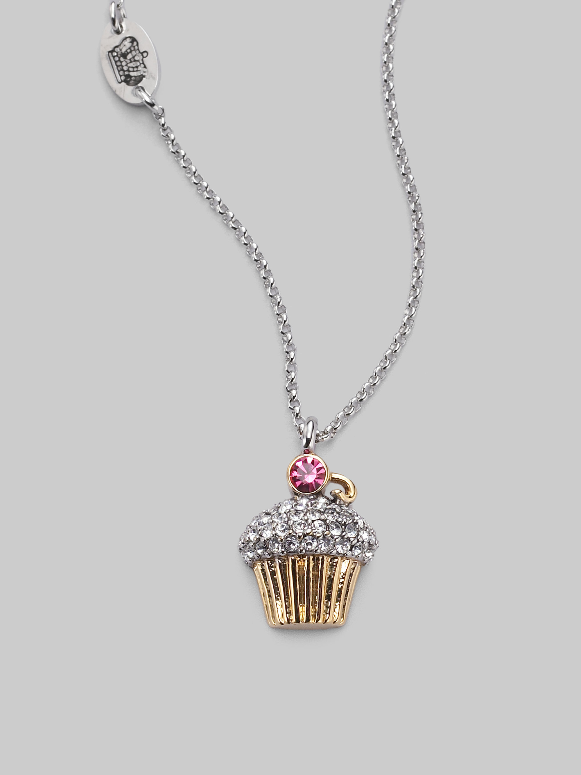 Lyst juicy couture cupcake necklace in metallic gallery aloadofball Gallery