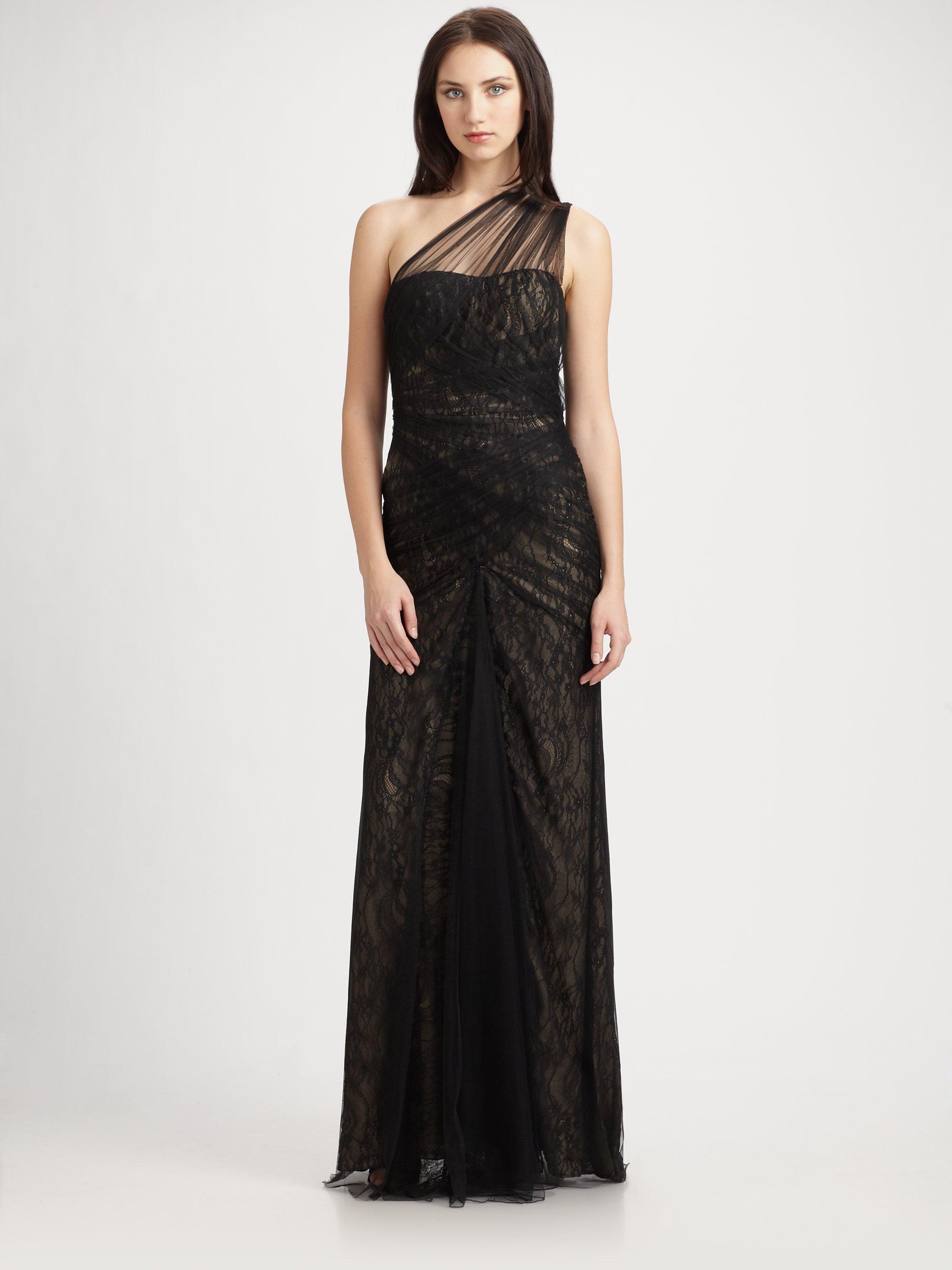 Monique Lhuillier Black Gown – fashion dresses