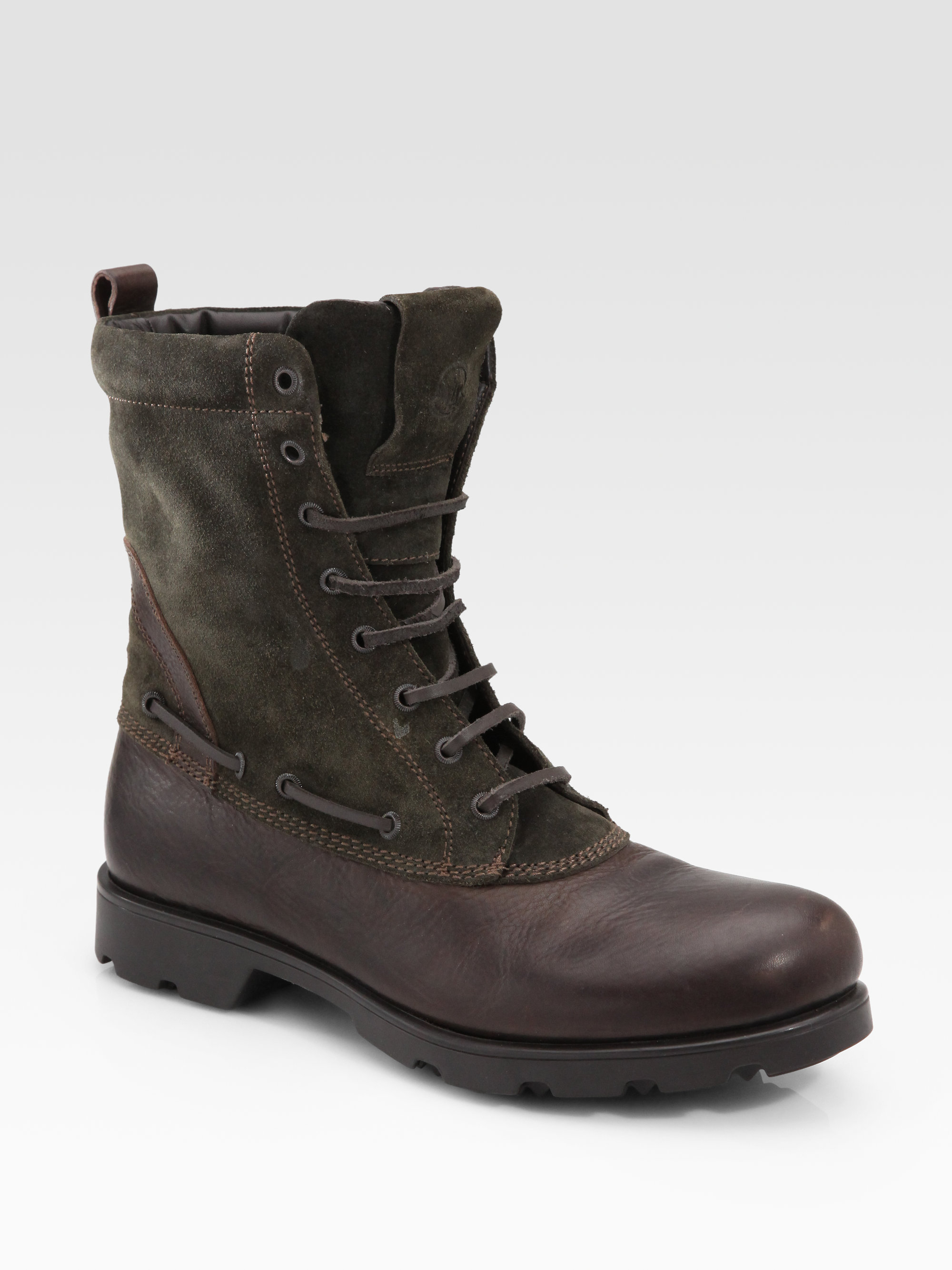 Lyst Moncler Montreal Military Boot In Brown For Men