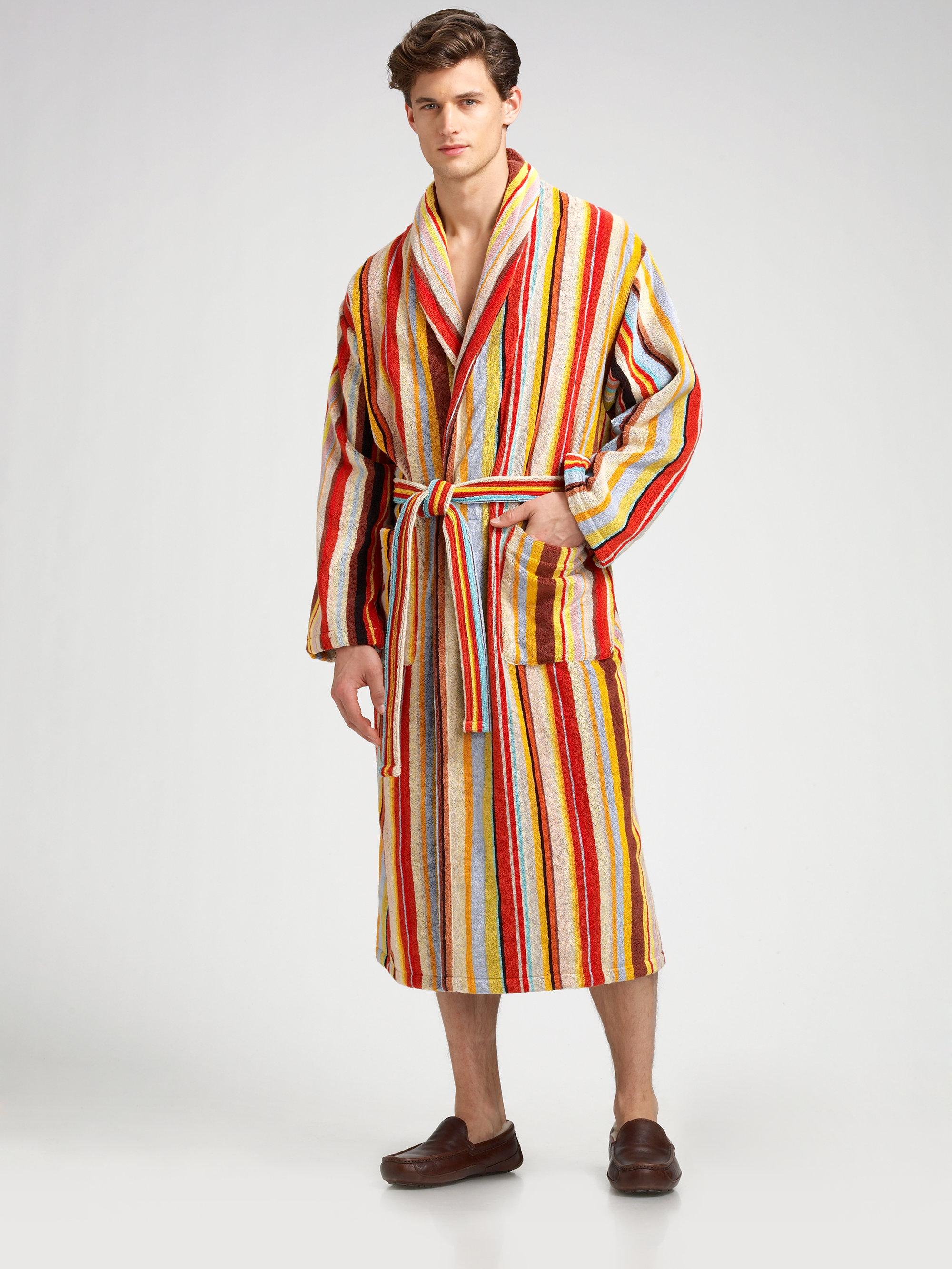 Paul Smith Classic Stripe Robe for Men Lyst