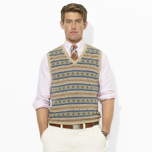 Polo ralph lauren Fair Isle Vest for Men | Lyst
