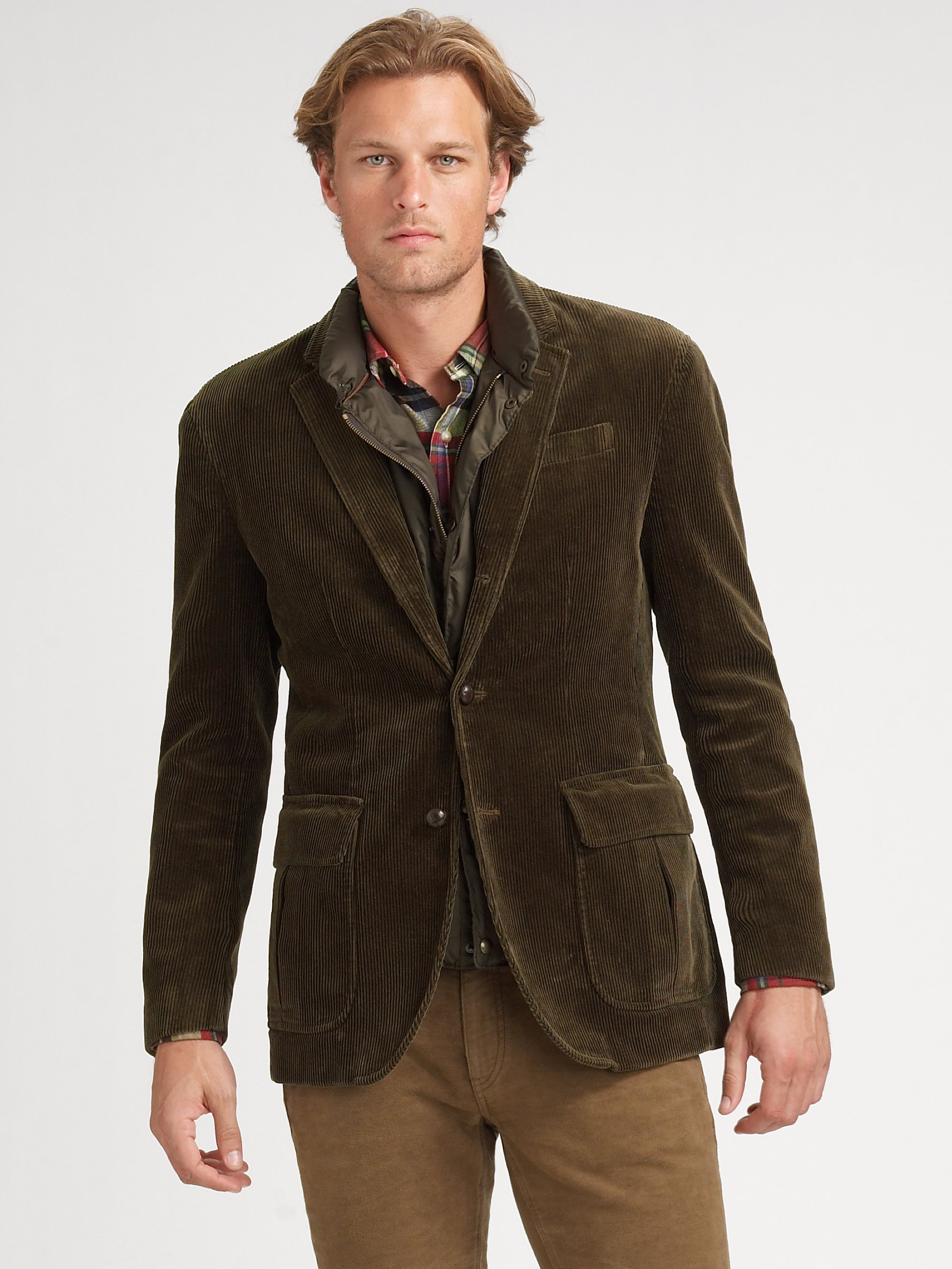 Polo ralph lauren Corduroy Sportcoat Vest in Natural for Men | Lyst