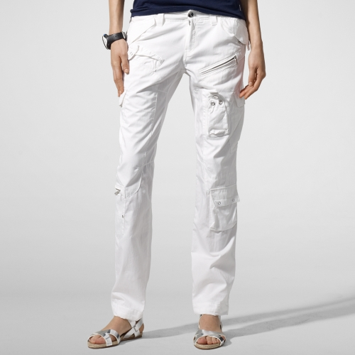 Rlx ralph lauren Cotton-Blend Cargo Pant in White | Lyst