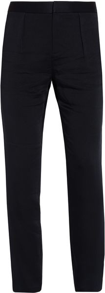T By Alexander Wang Shiny Crepe Trousers - Lyst