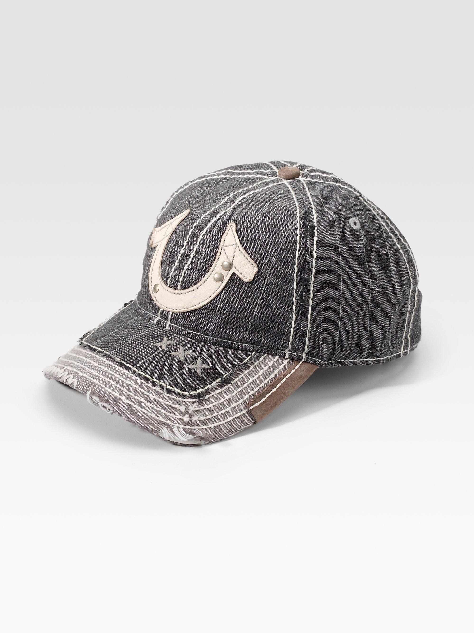 Lyst - True Religion Pinstripe Horseshoe Hat in Gray for Men 620fd25a1bdd