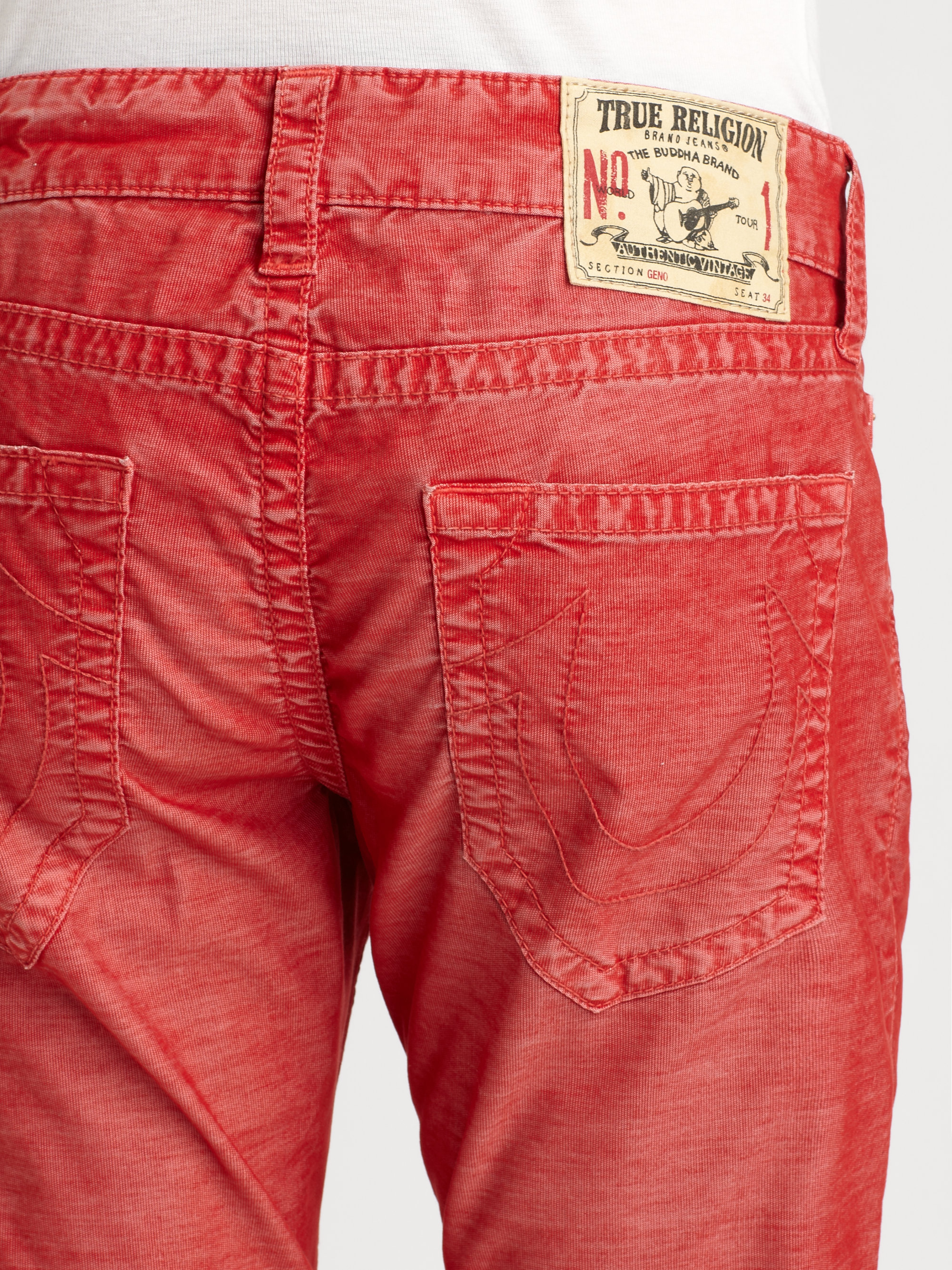 83087ab45 True Religion Geno Corduroy Pant in Red for Men - Lyst